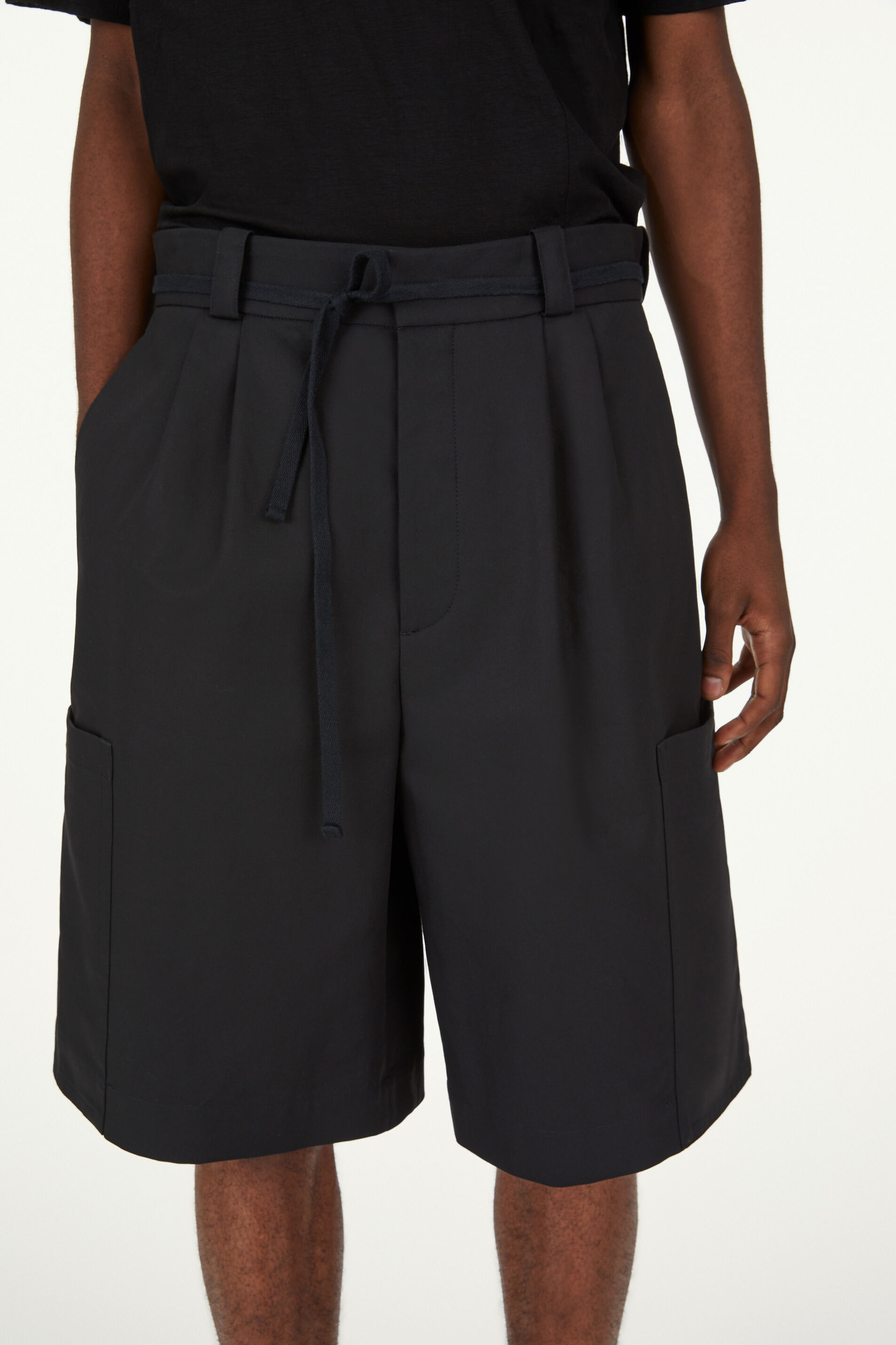 Shorts, black, large