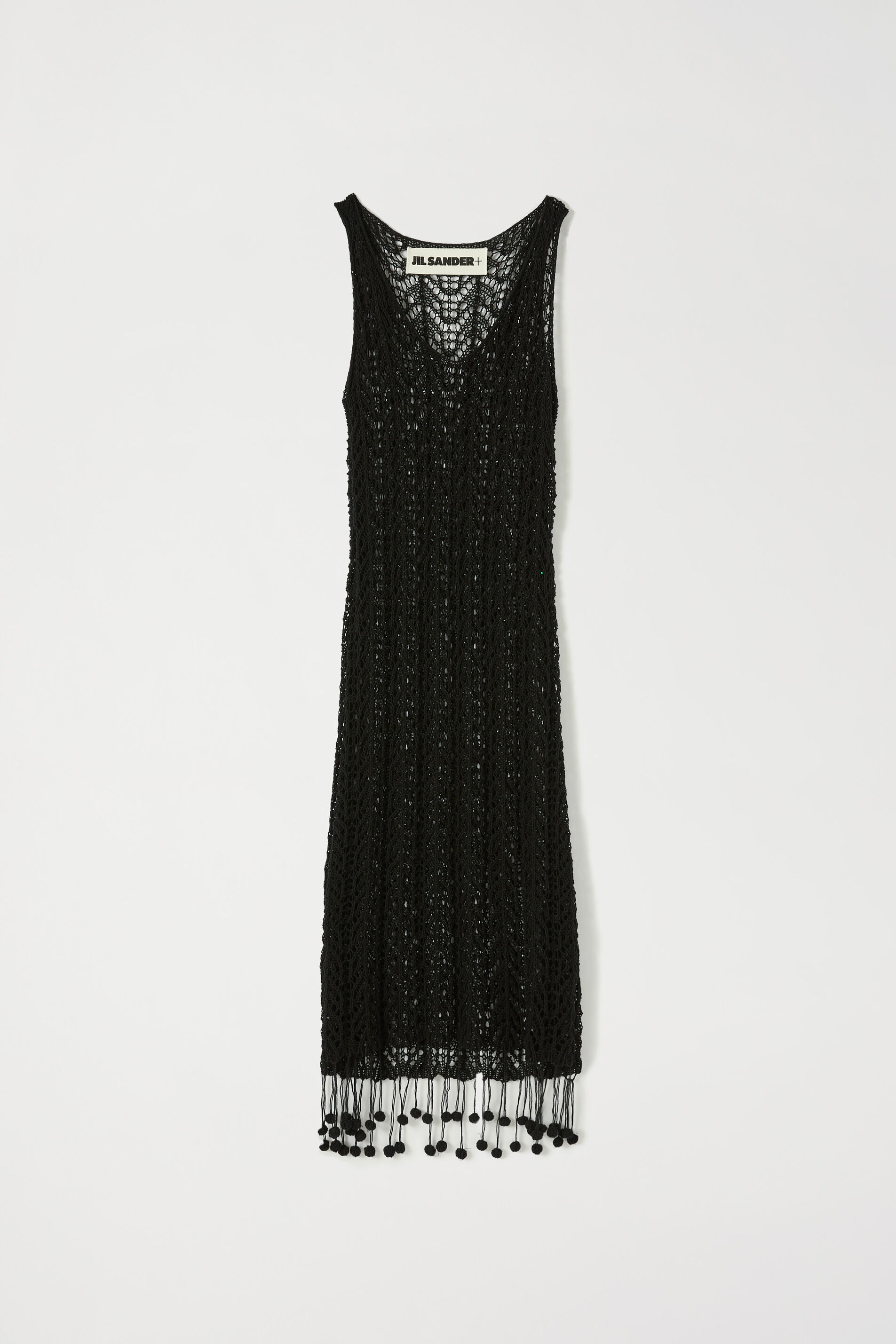 Crochet Dress, black, large