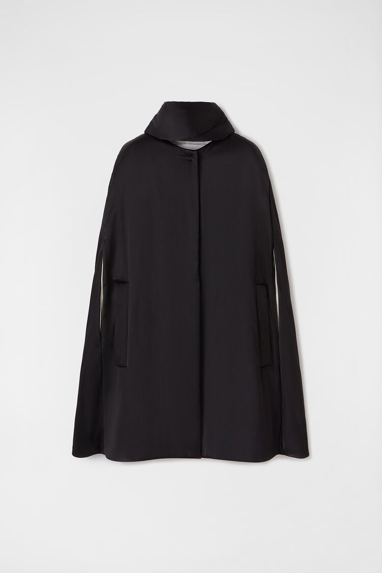 Padded Cape, black, large