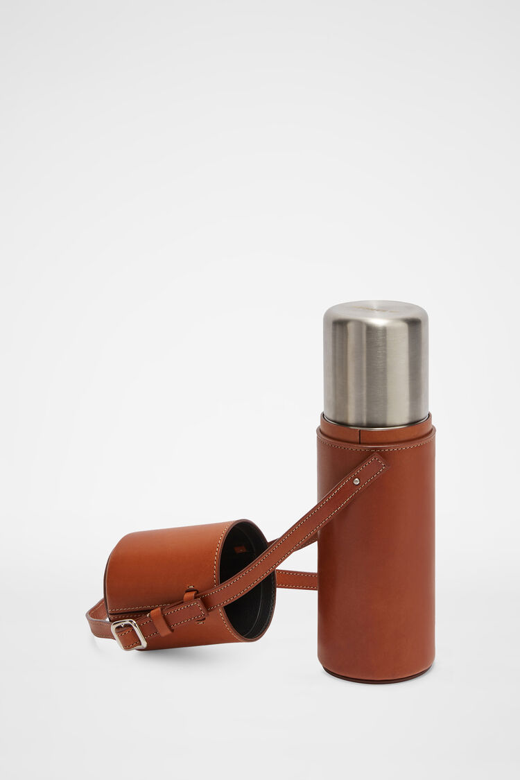 Thermos with Case, copper, large