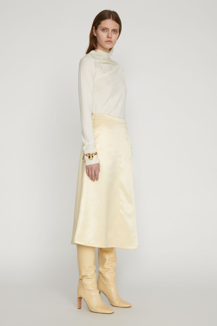Asymmetrical Skirt, beige, large