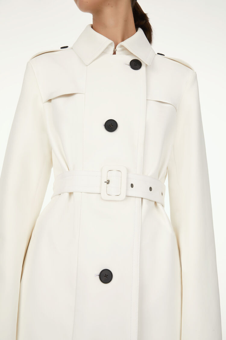 Leather Trench, natural, large