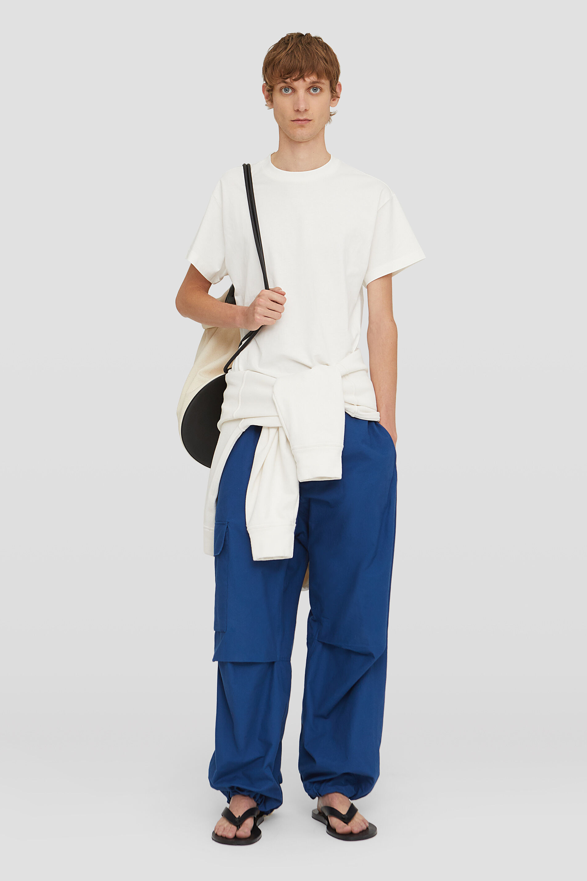Trousers, blue, large