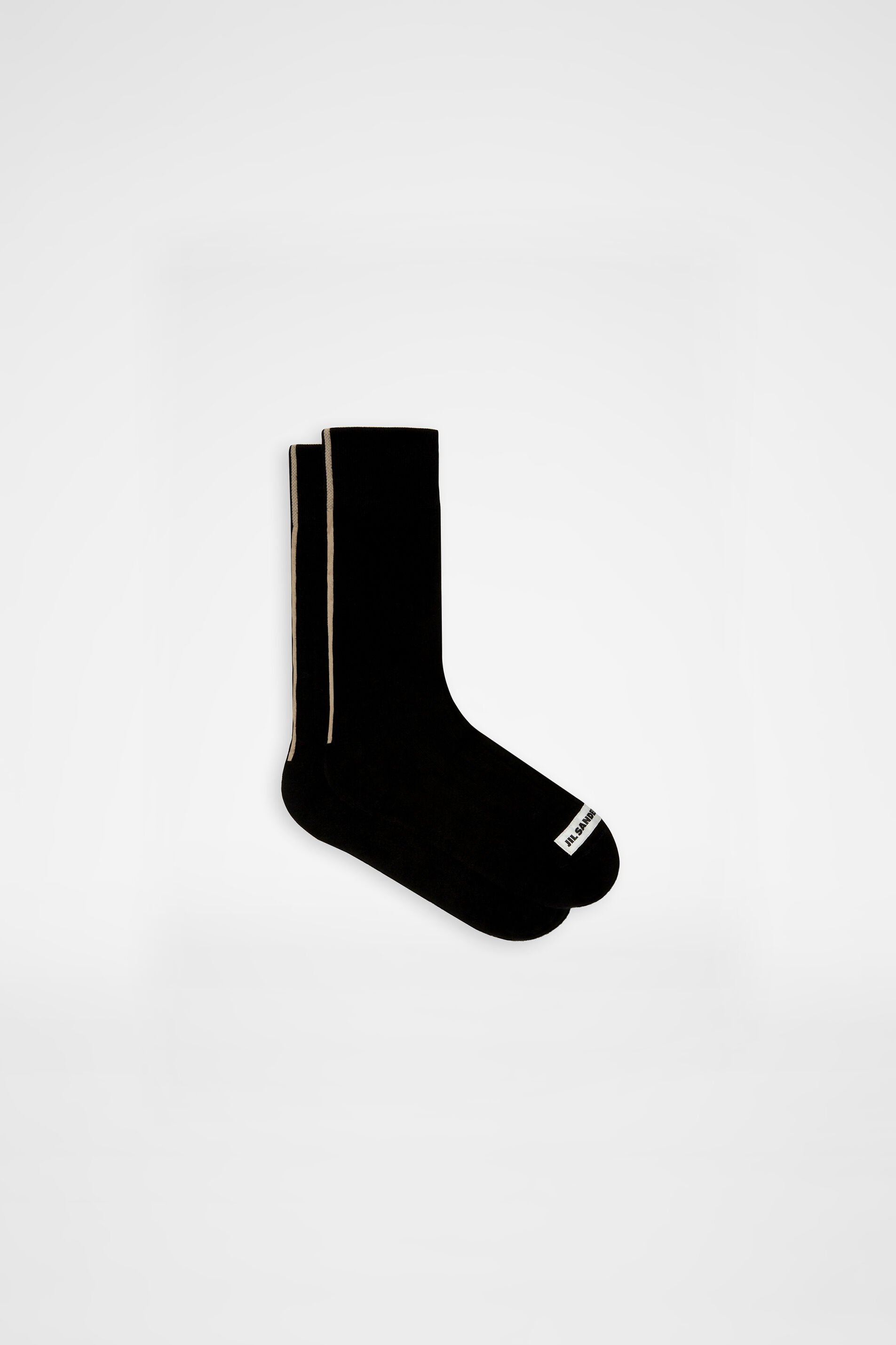 Socks, black, large