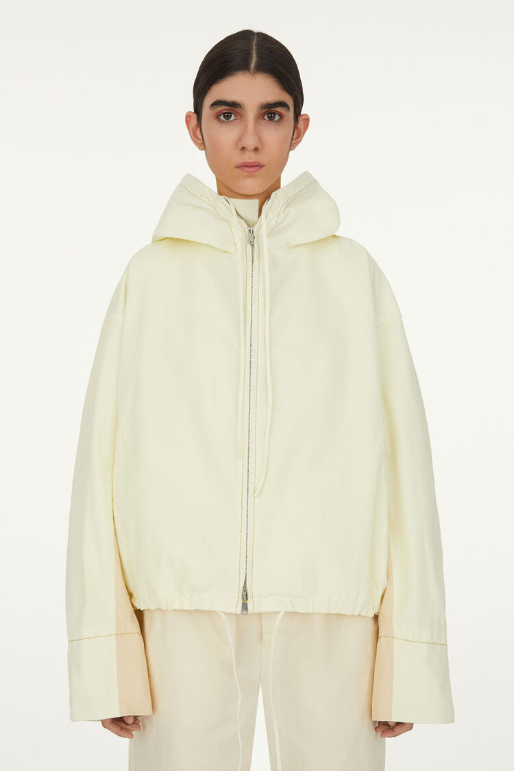Short Hooded Blouson, pastel yellow, large