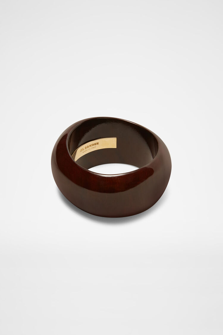 Wood Bracelet, dark brown, large