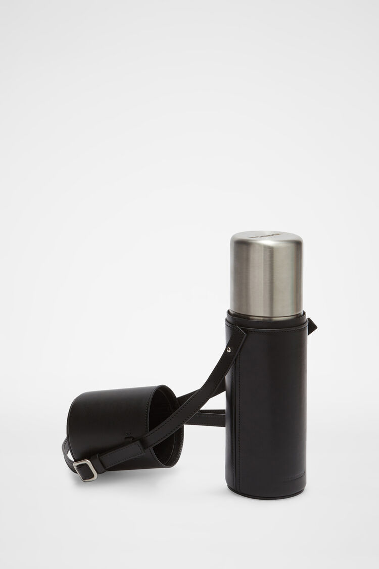 Thermos with Case, black, large