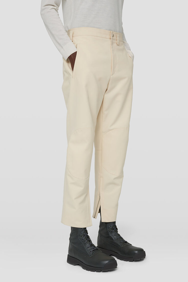 Zipped-Ankle Pants, natural, large