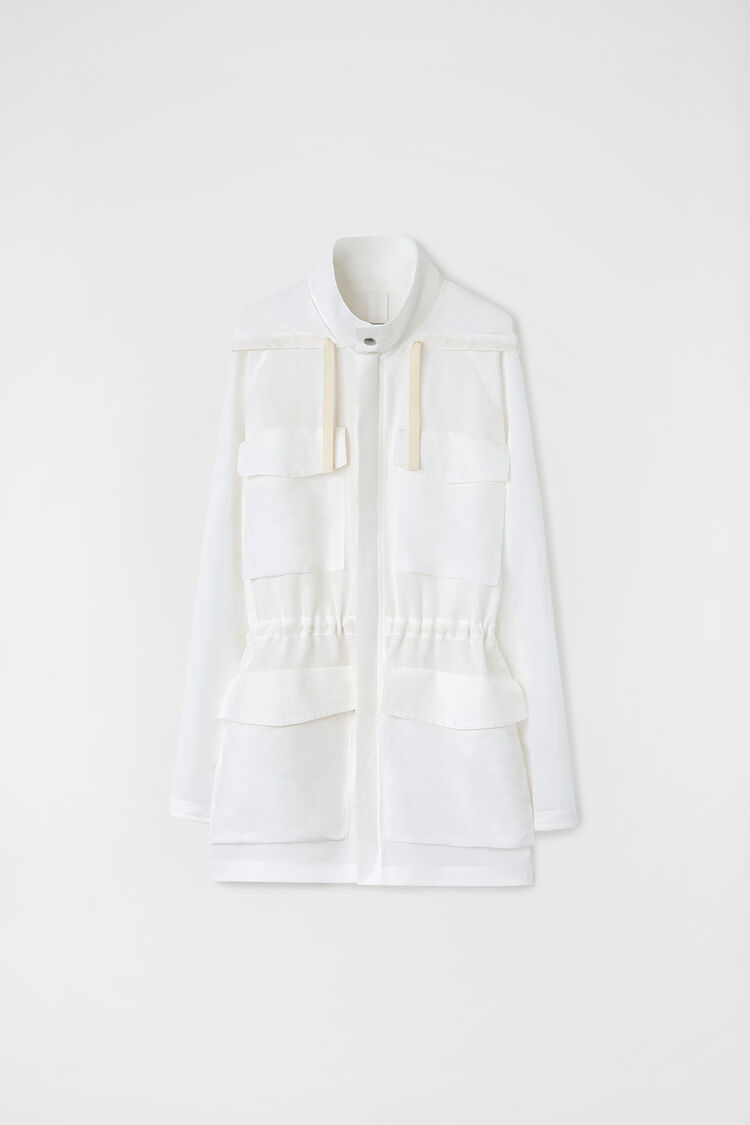 Jacket, white, large