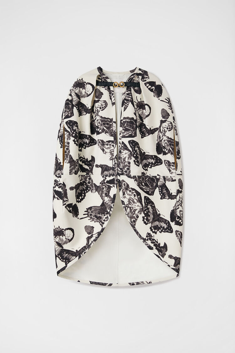 Printed Cape, white, large