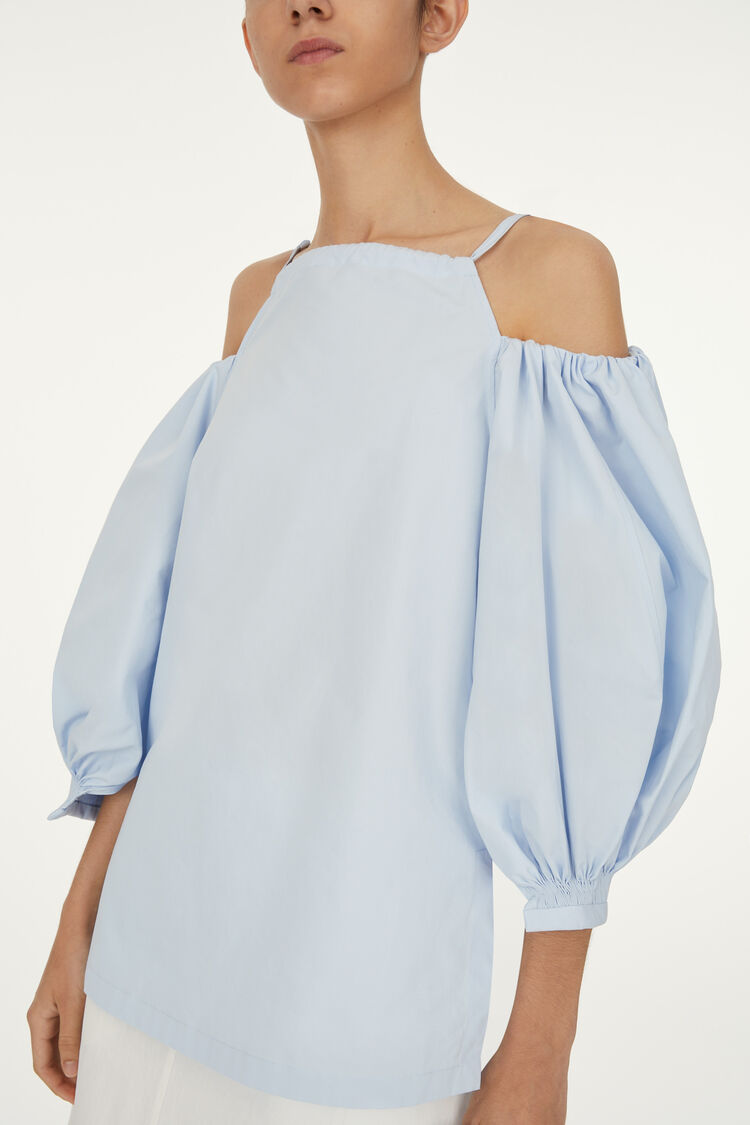 Top, pastel blue, large
