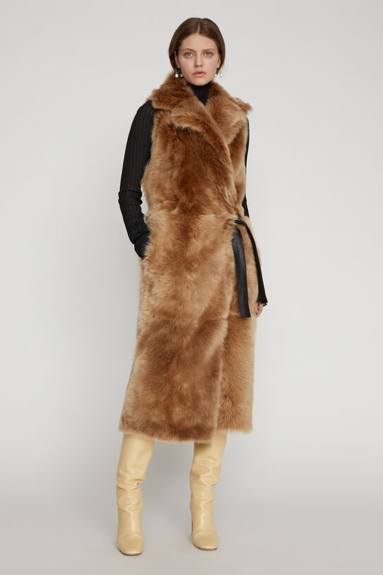 Gilet in shearling