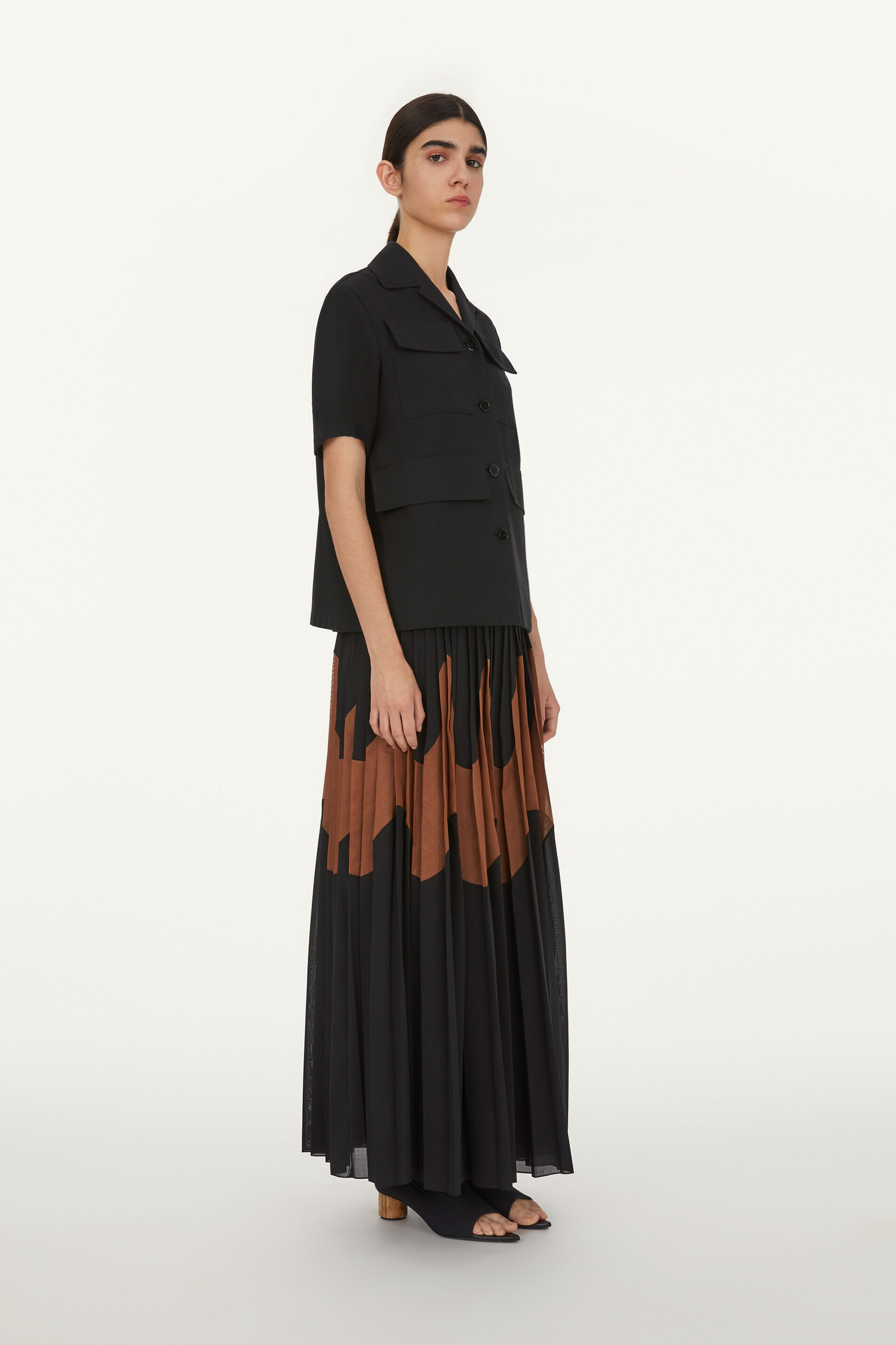 Long Skirt, black, large