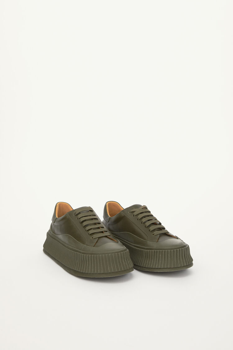 Sneakers, dark green, large