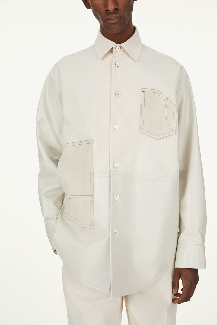 Leather Shirt, natural, large