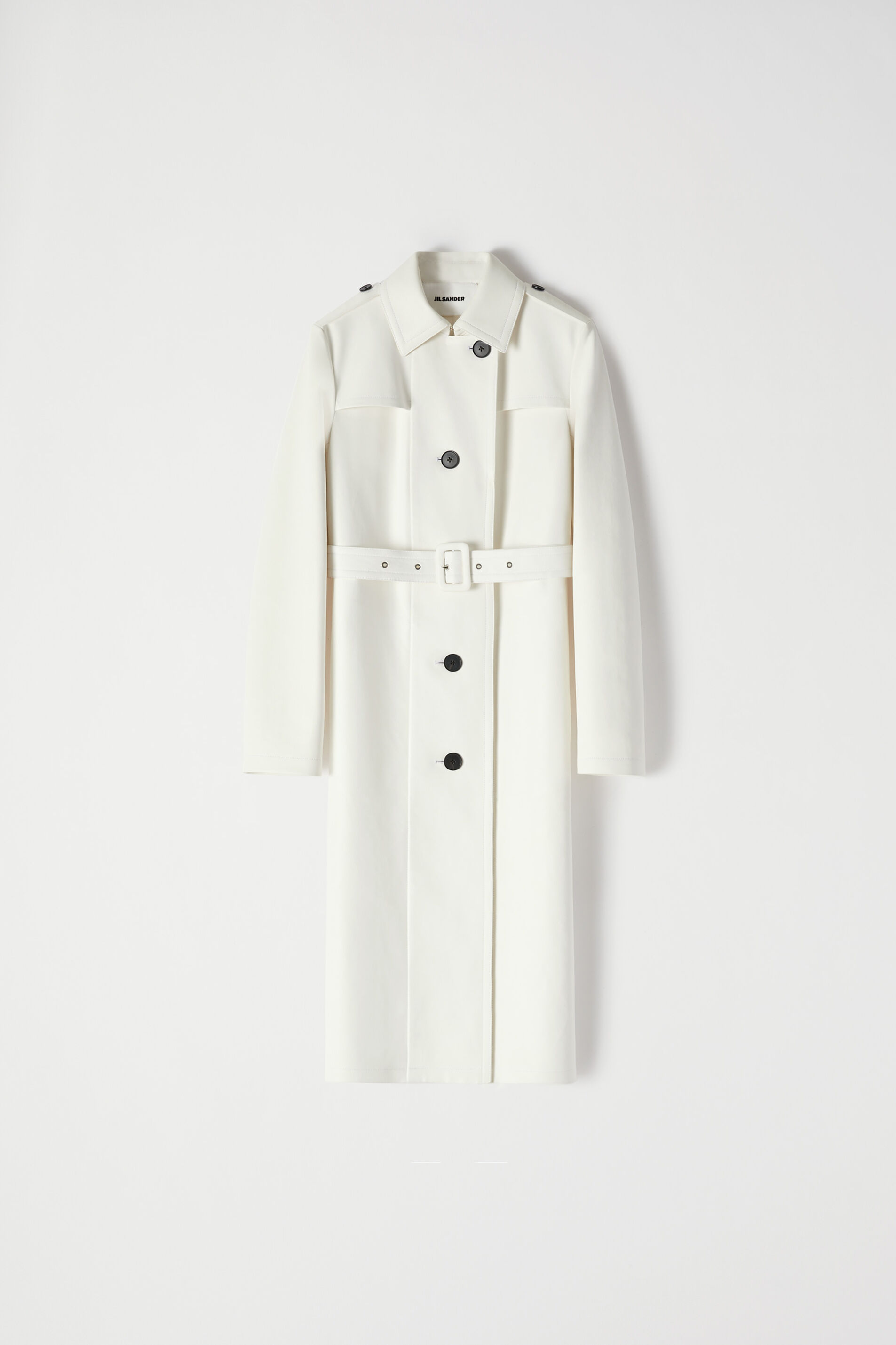Trench in Pelle, naturale, large