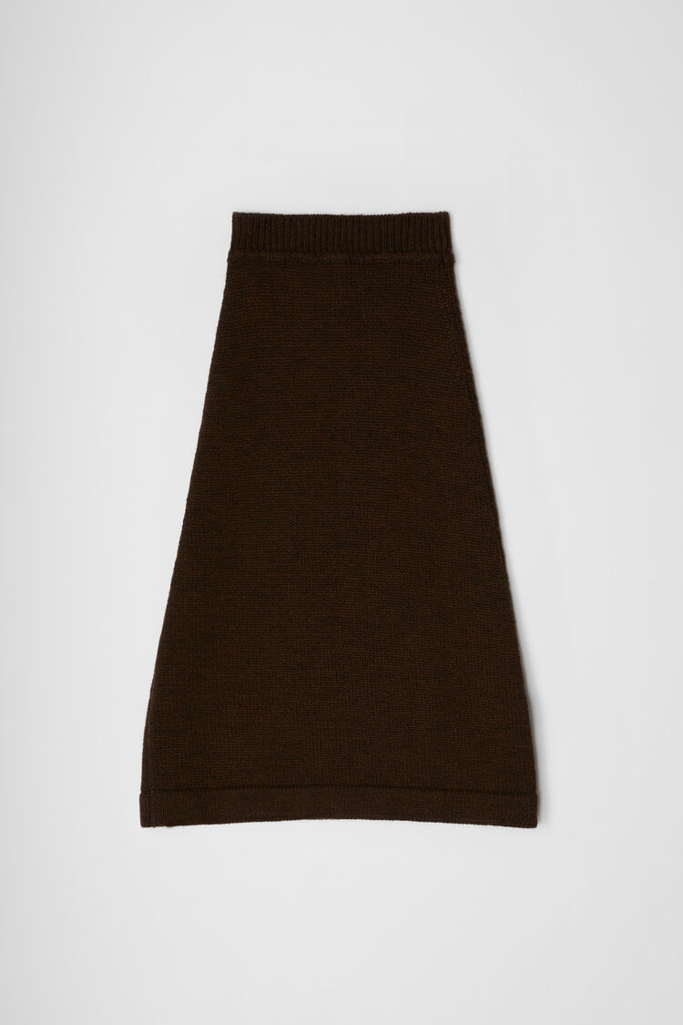Skirt, dark brown, large