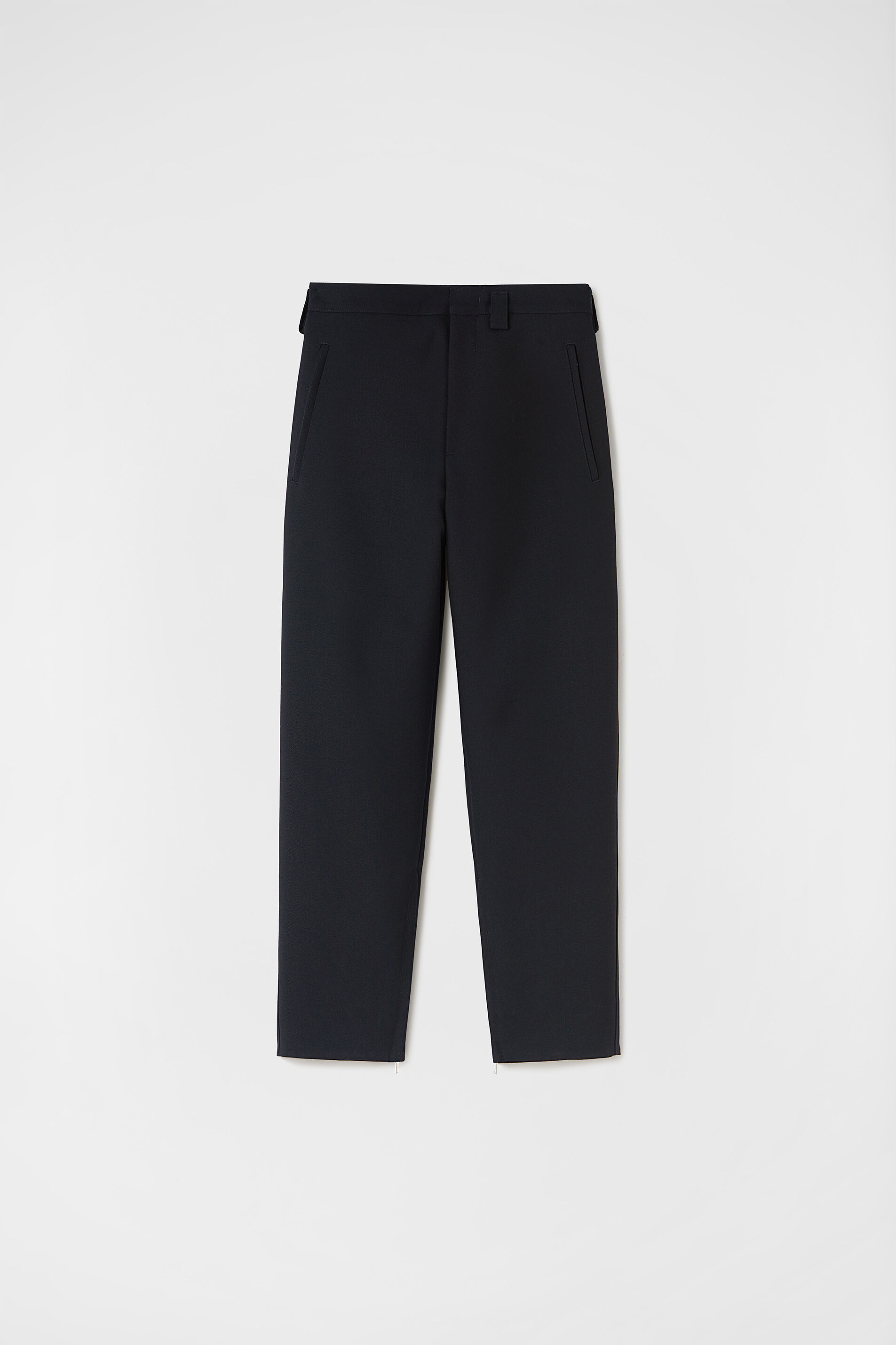 Zipped-Ankle Trousers, dark blue, large