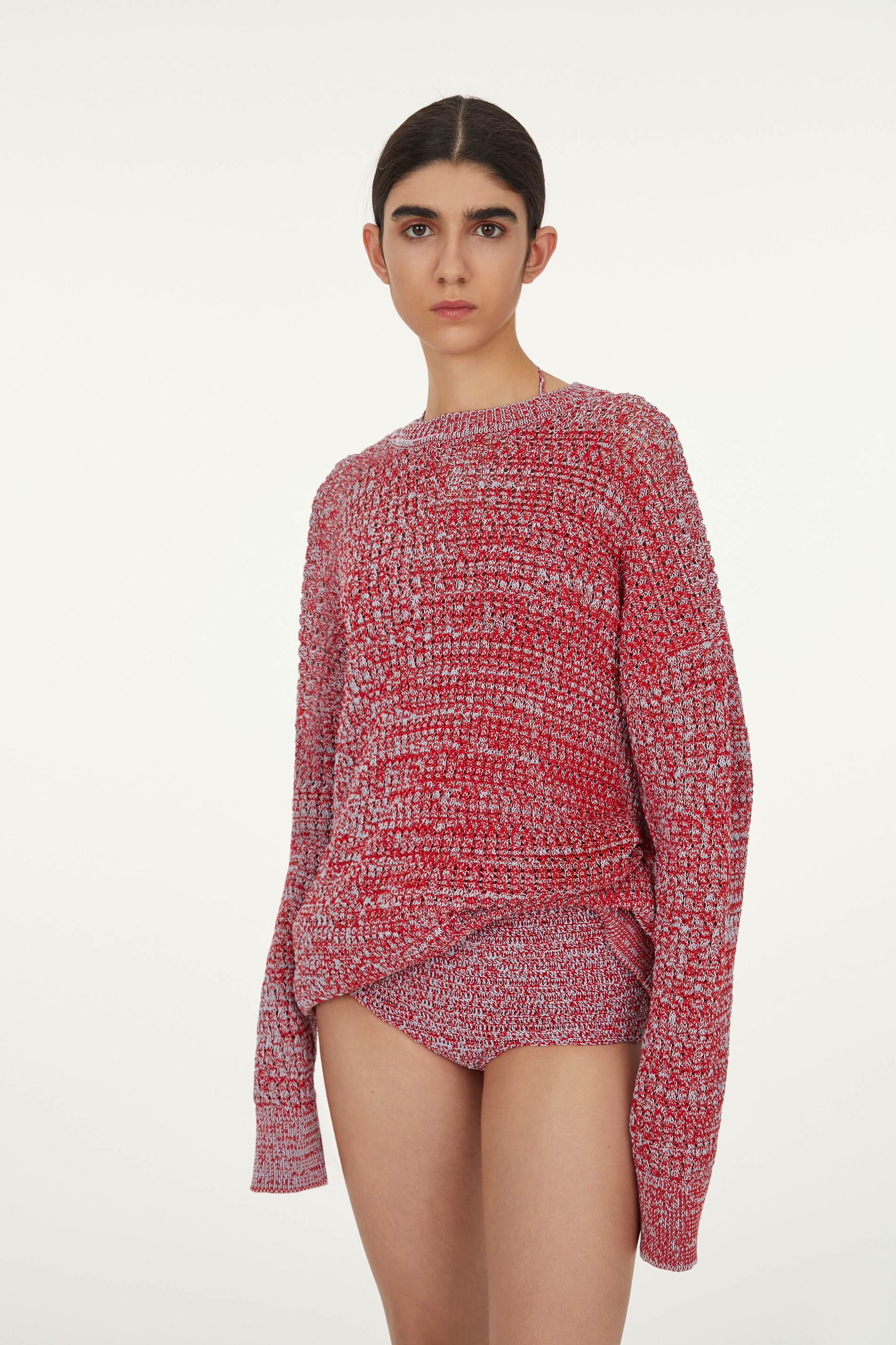 Sweater, red, large