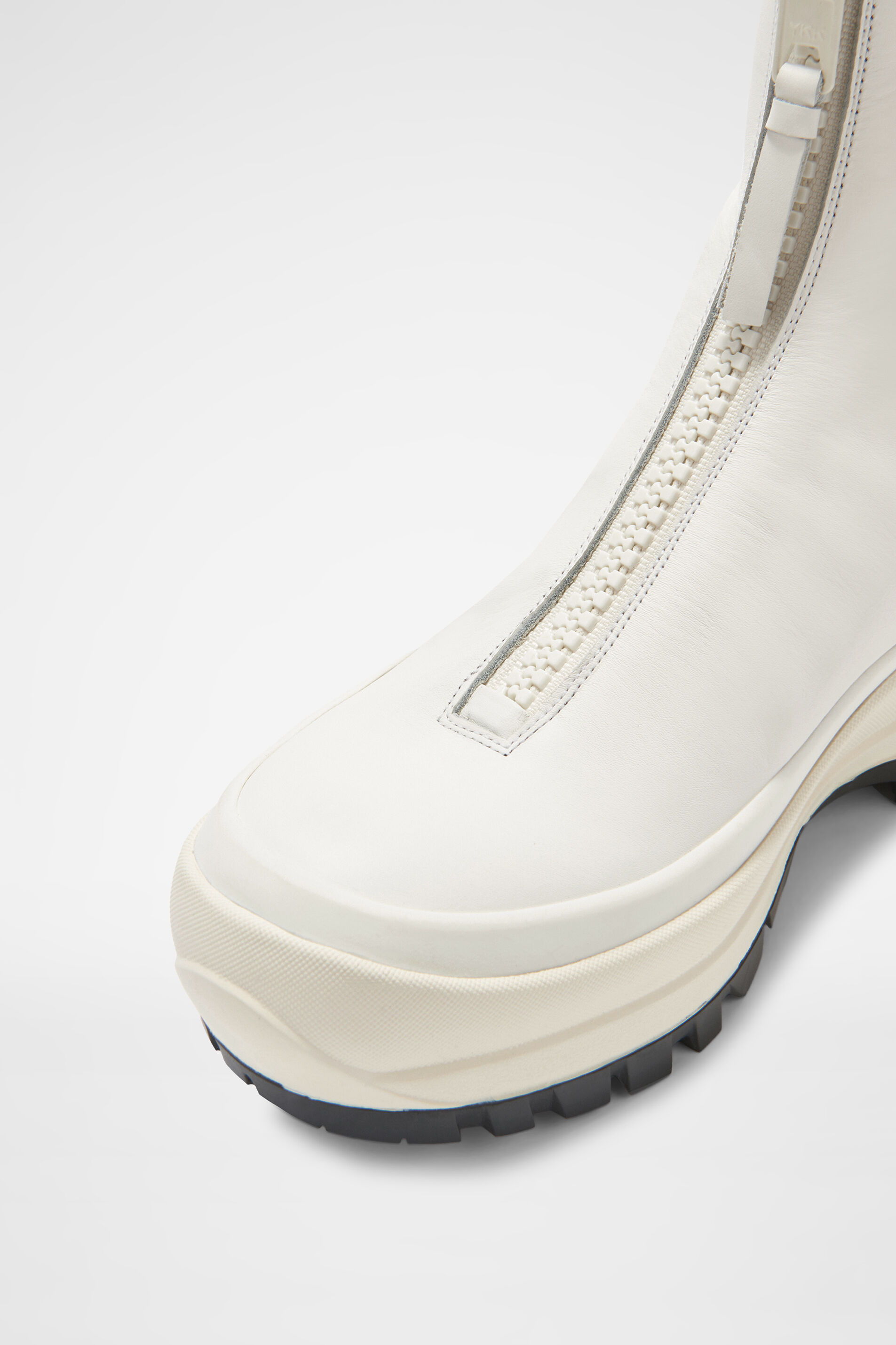 Zip-up Boots, white, large