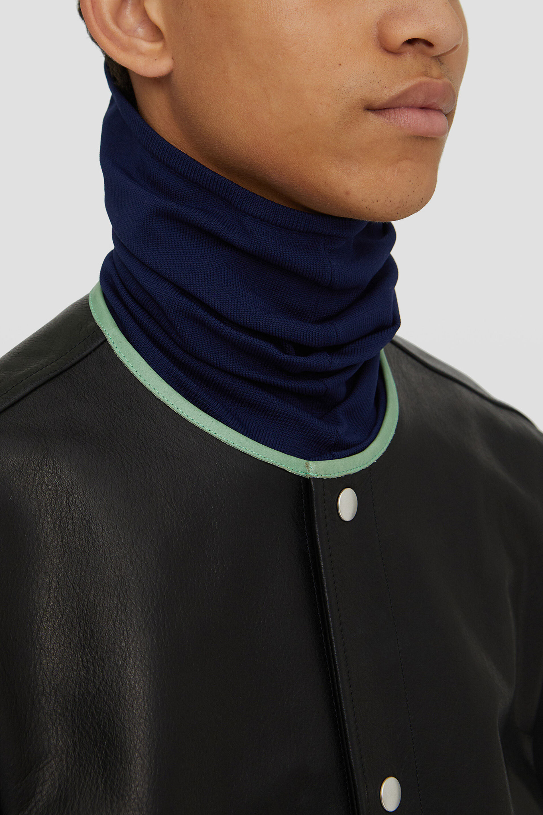 Collar, dark blue, large