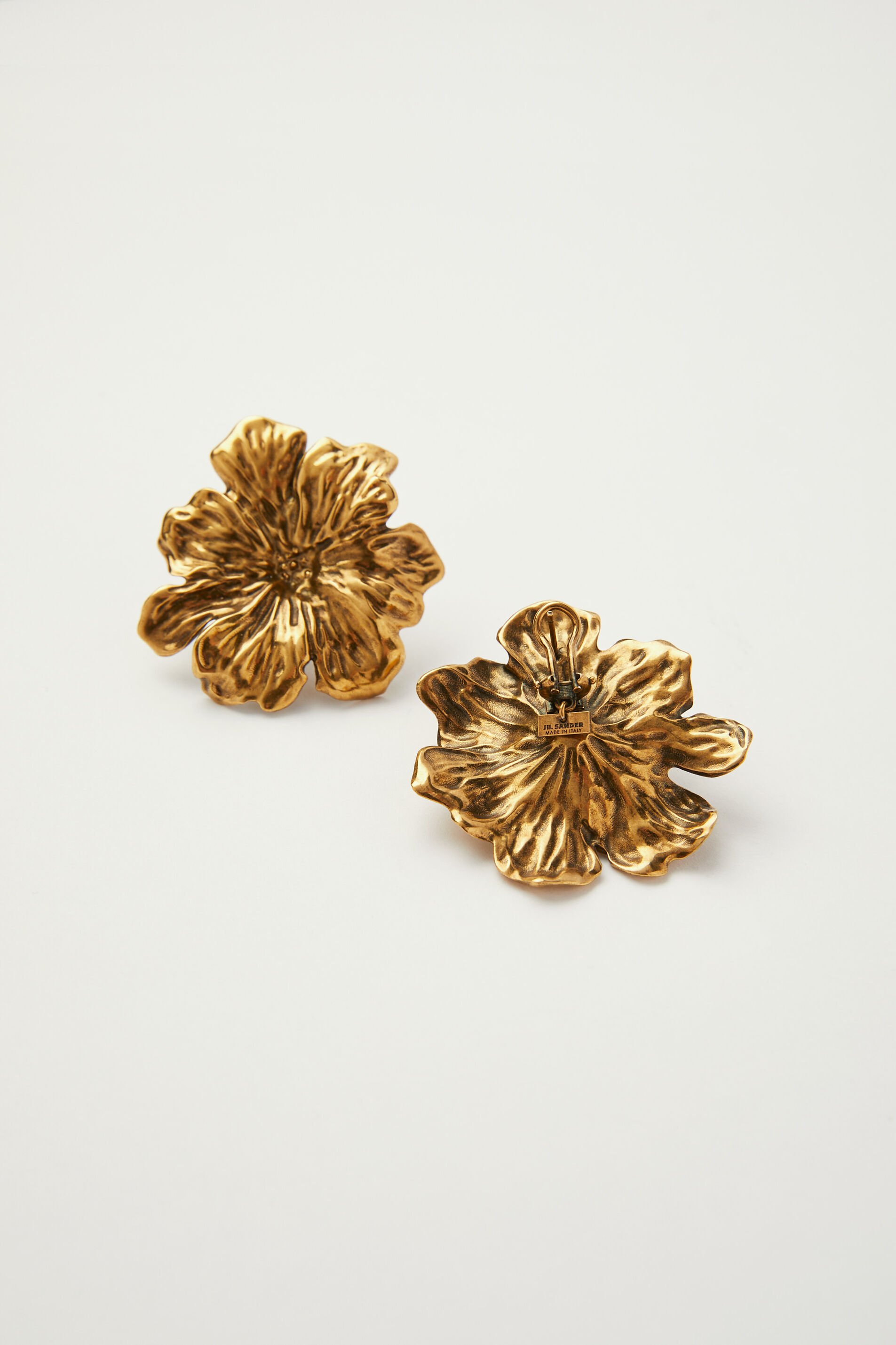 Earrings, gold, large