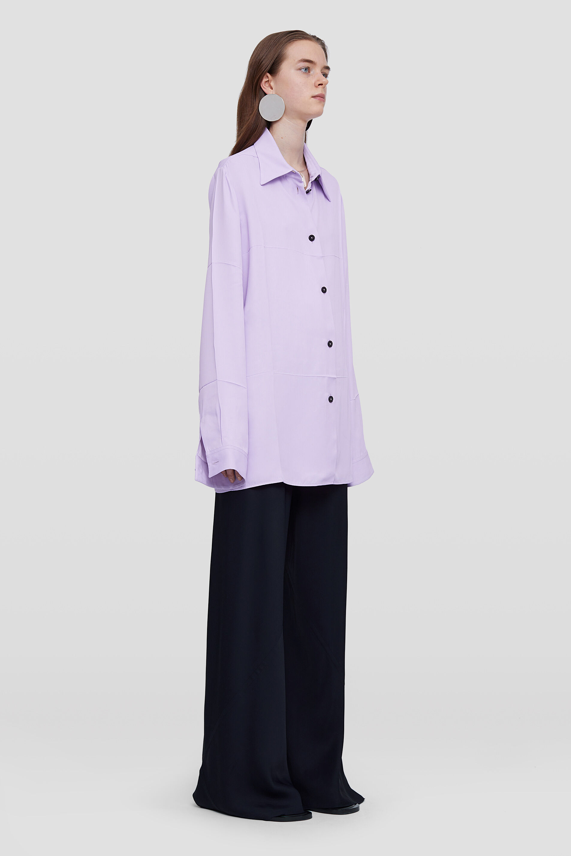 Flared Trousers, dark blue, large