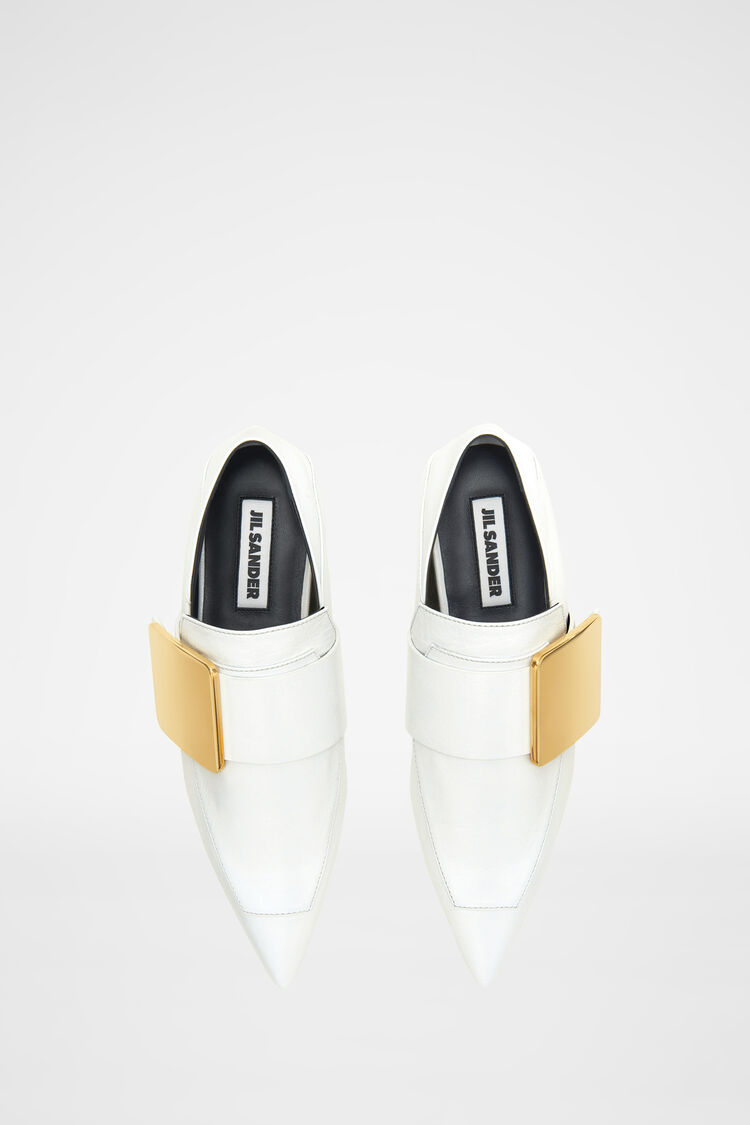 Loafers, white, large