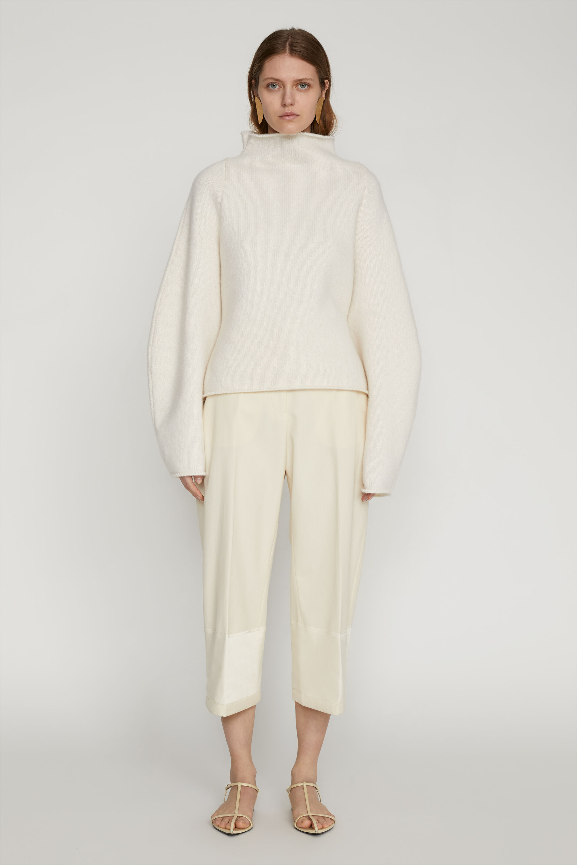 Tailored Trousers, beige, large