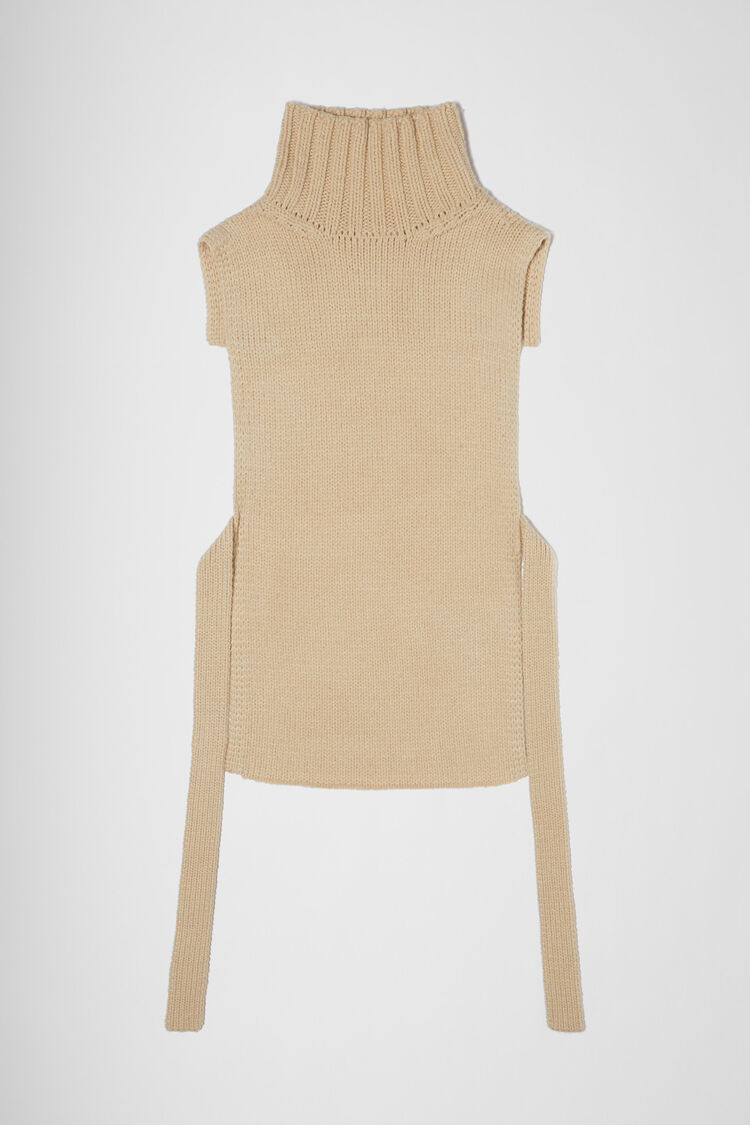 Long Plastron, beige, large