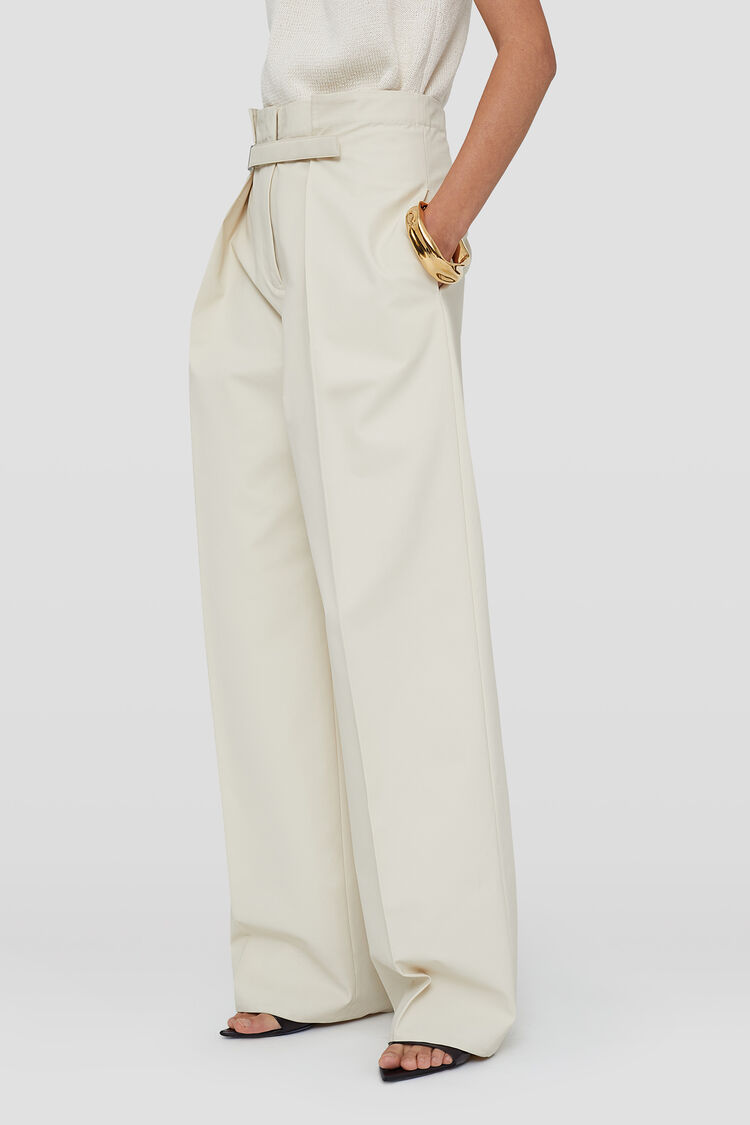 Trousers, beige, large