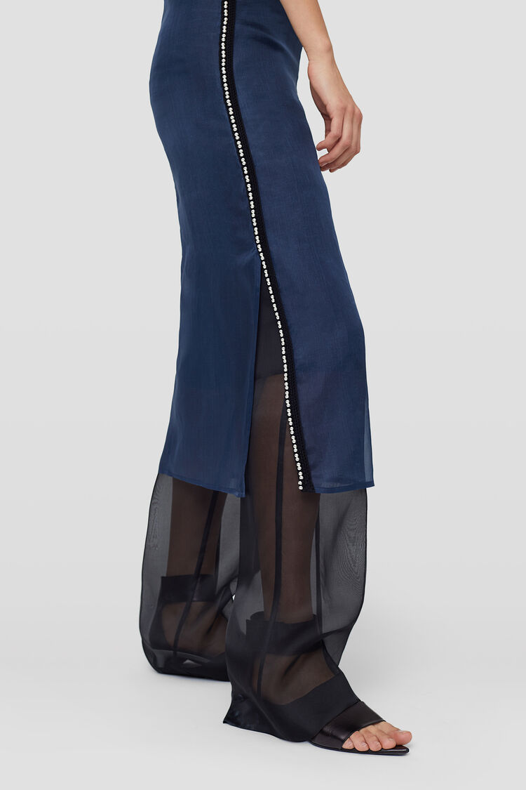 Skirt, dark blue, large