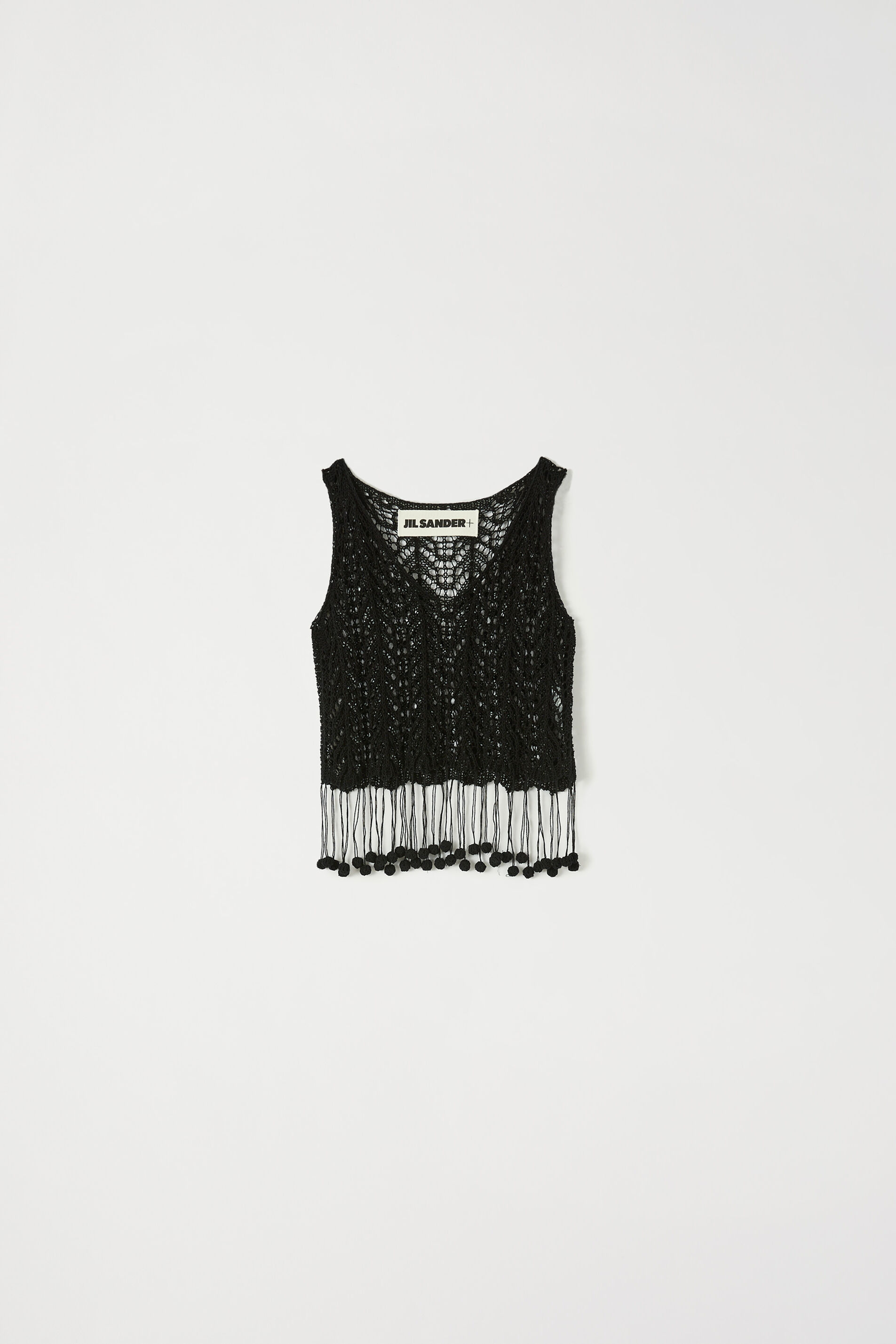 Crochet Top, black, large