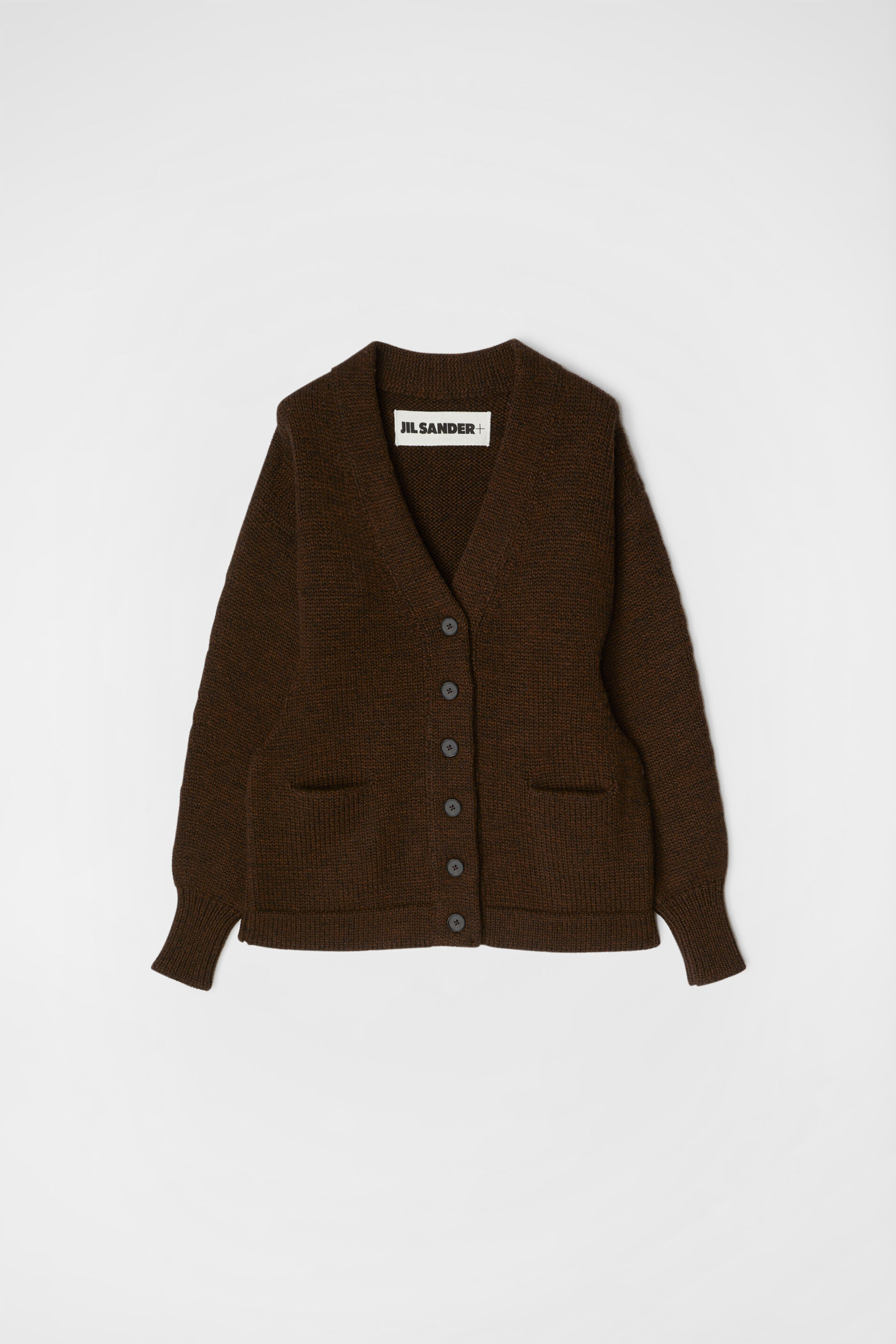 Cardigan, dark brown, large