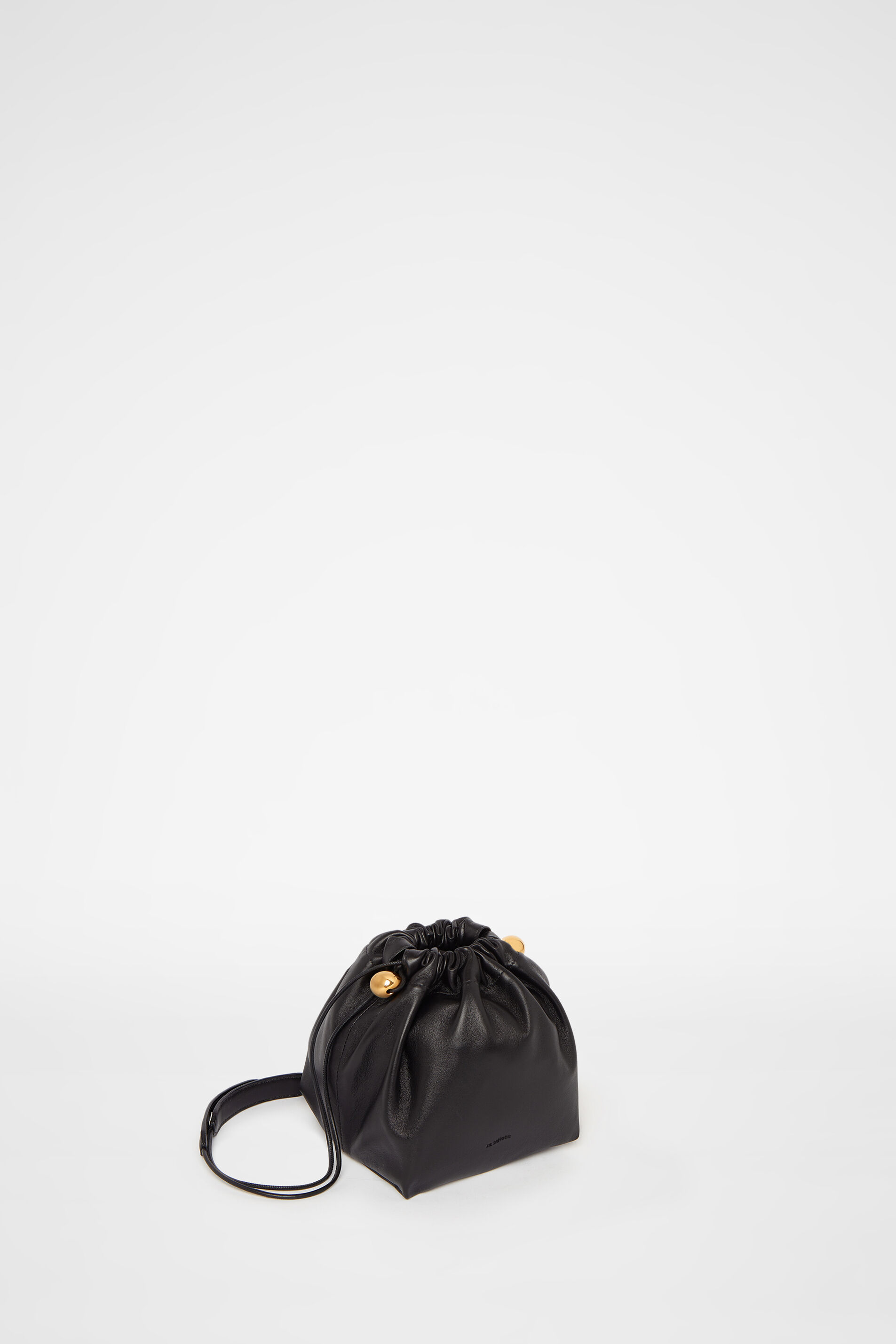 Drawstring Crossbody Small, black, large