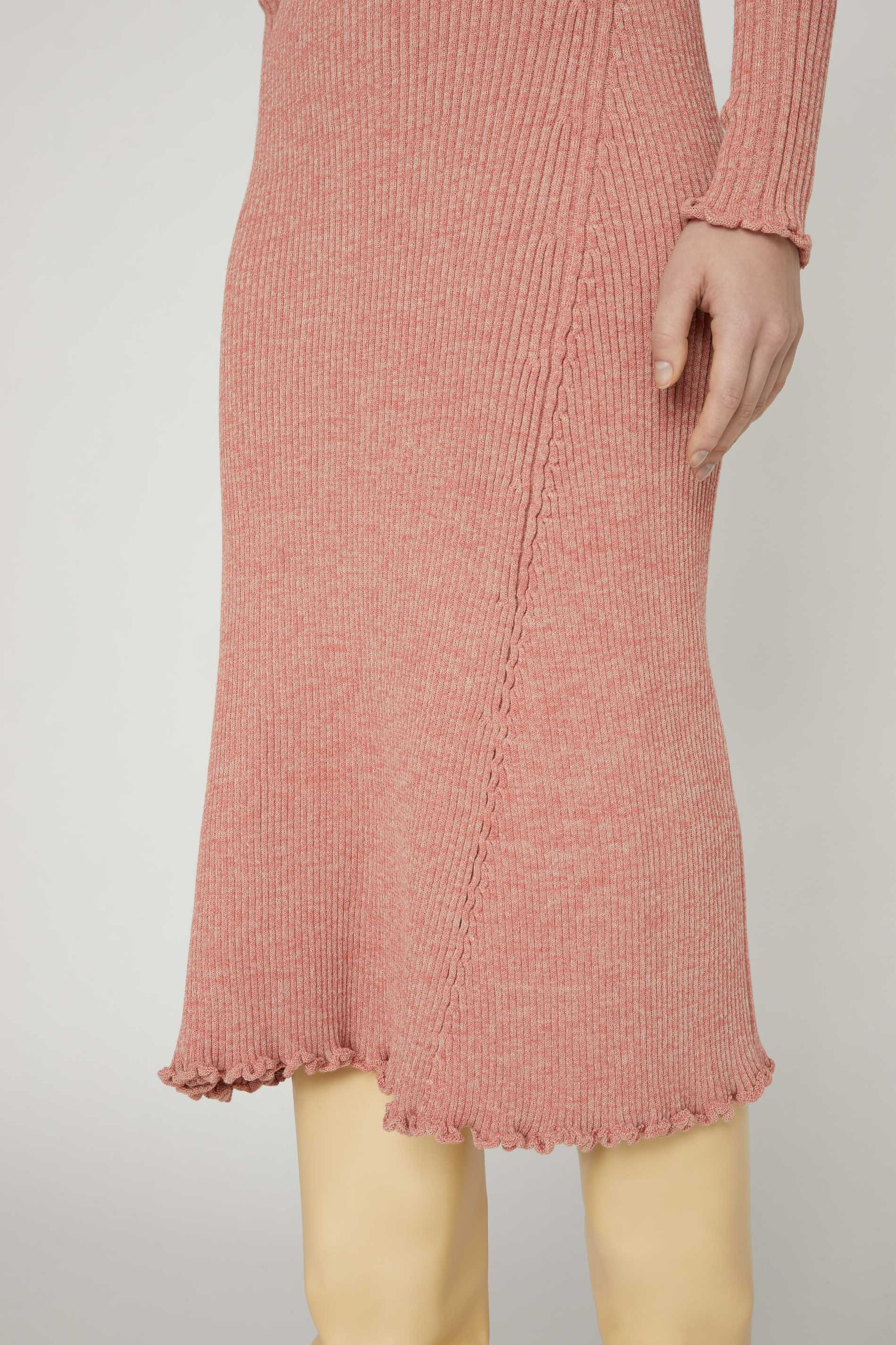 Knit Dress, pastel red, large