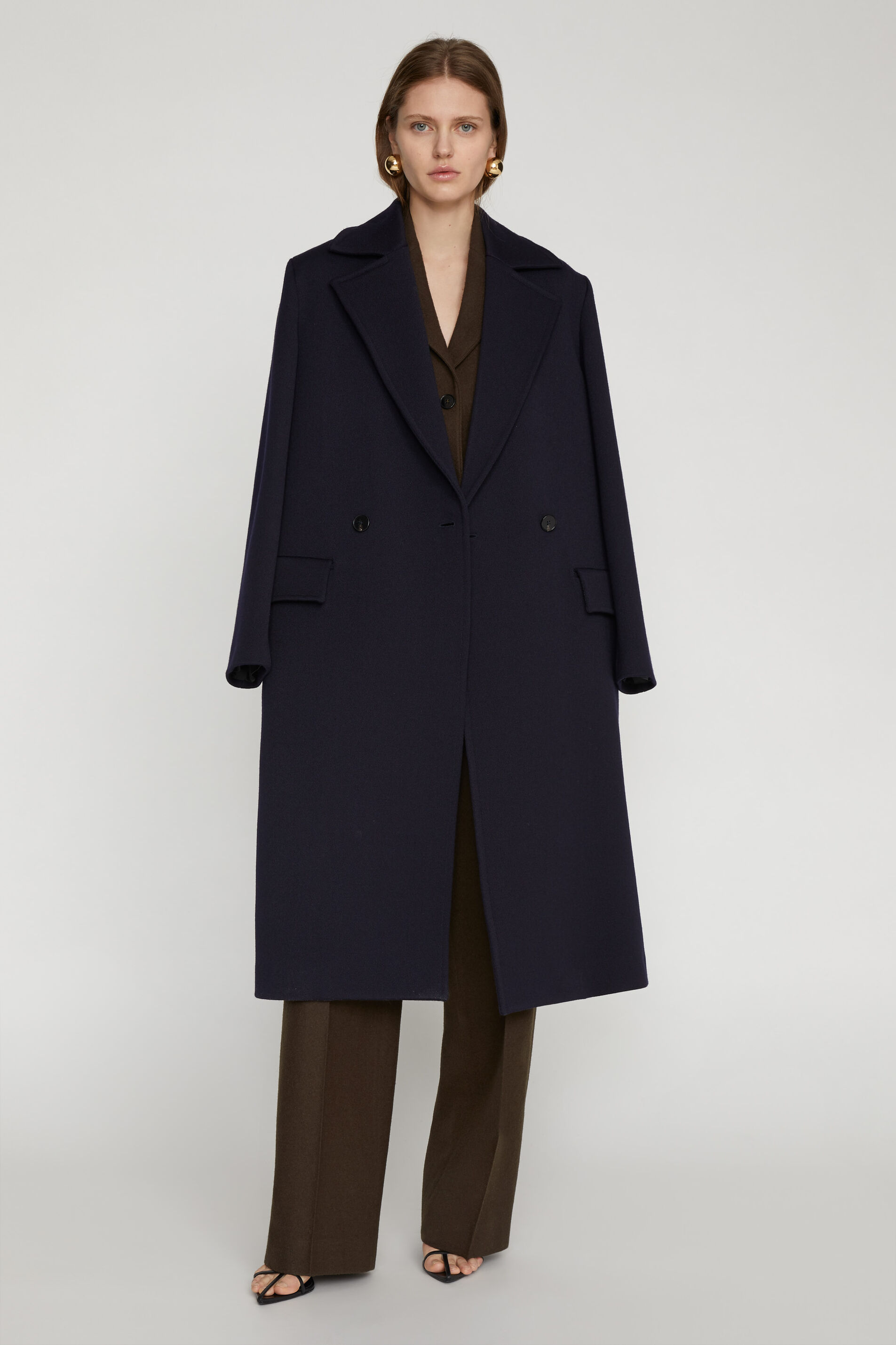 Coat, dark blue, large