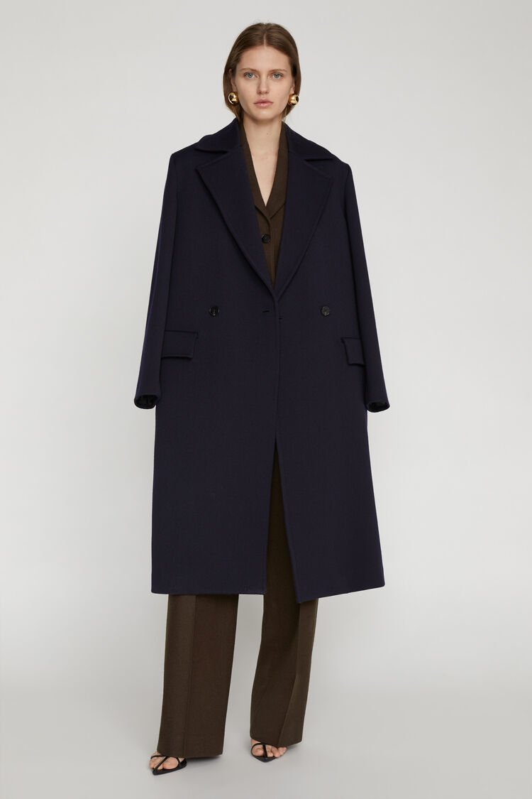 Cappotto, blu scuro, large