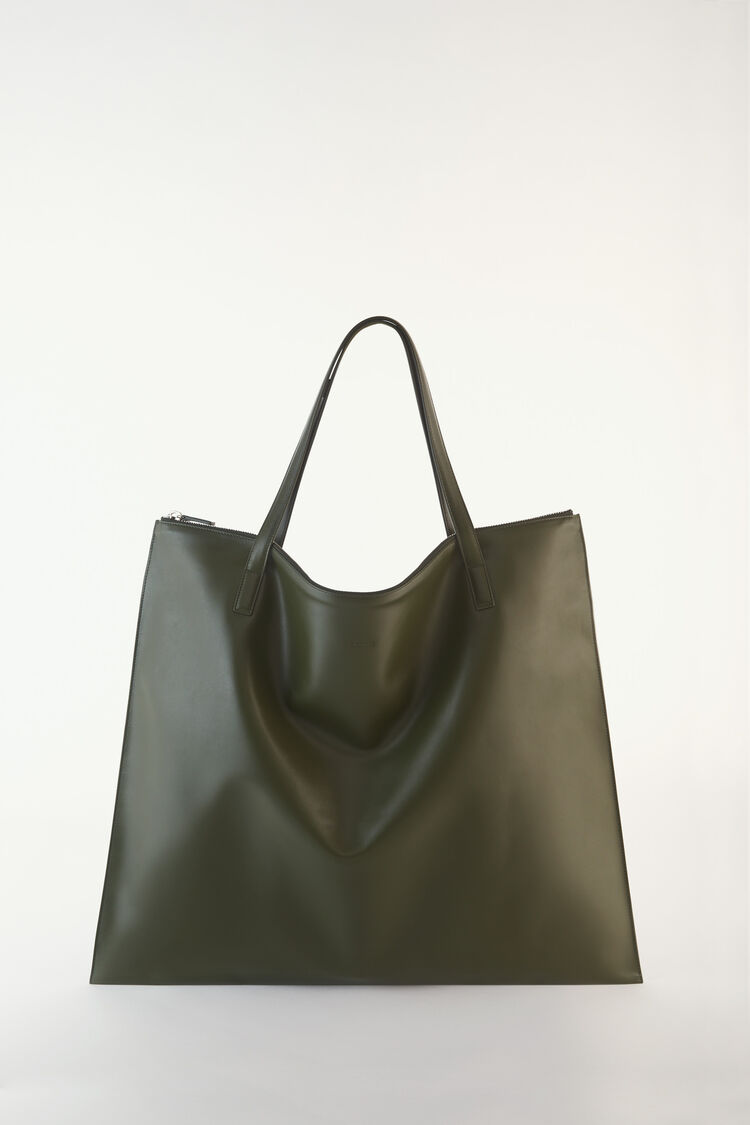 Zipped Tote, green, large