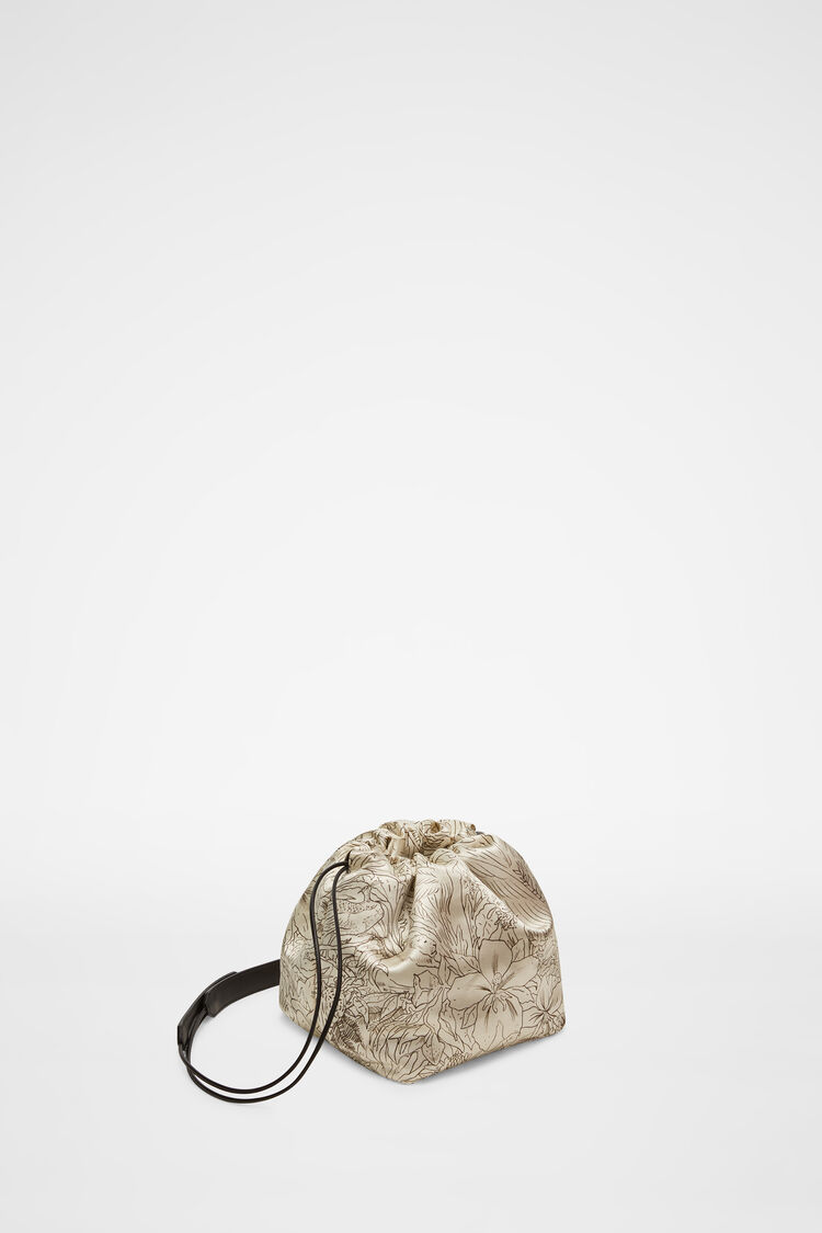 Drawstring Crossbody Small, beige, large
