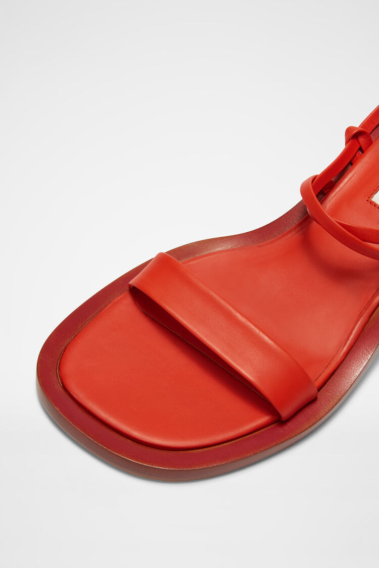 Sandals, red, large