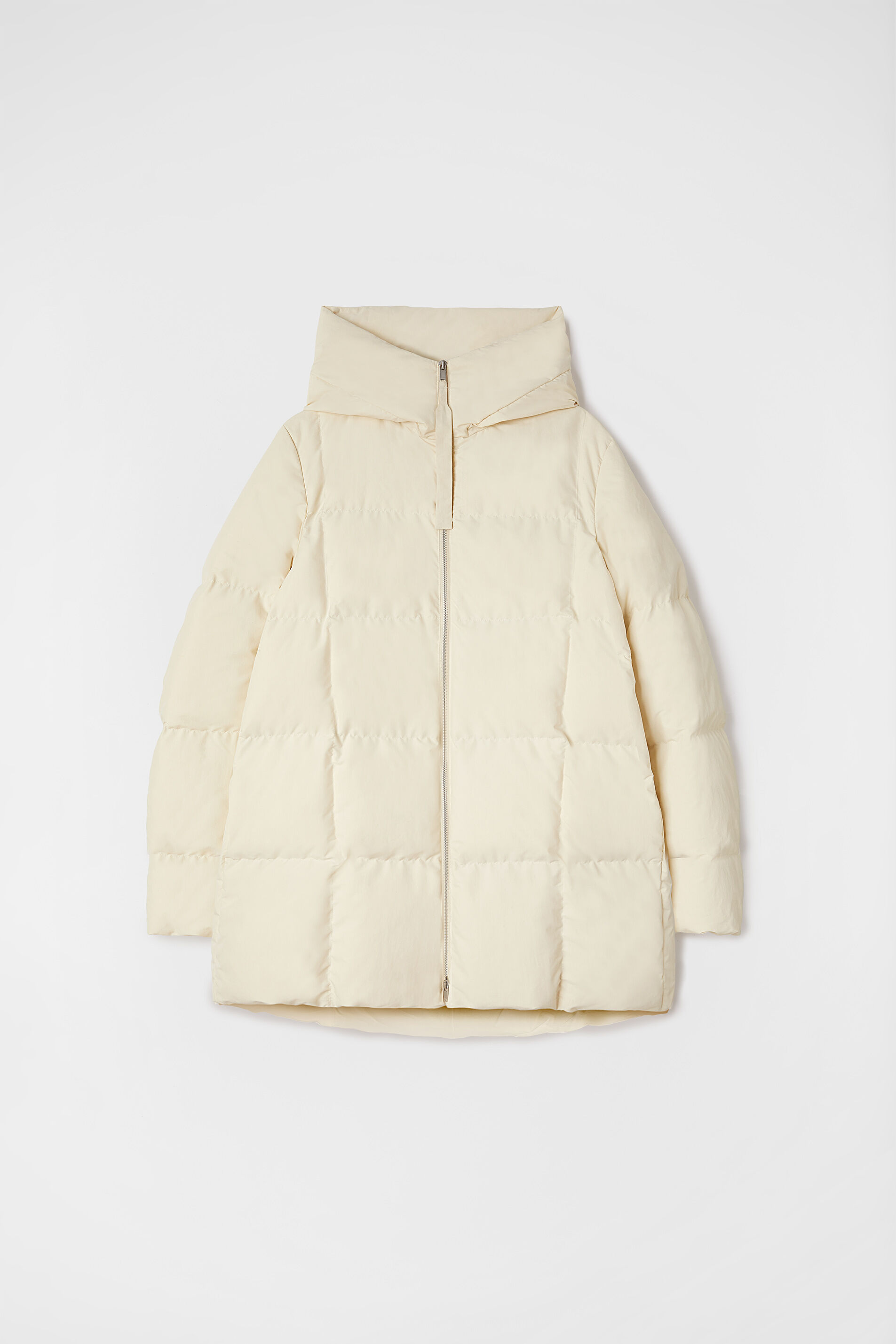 Quilted Down Jacket, beige, large
