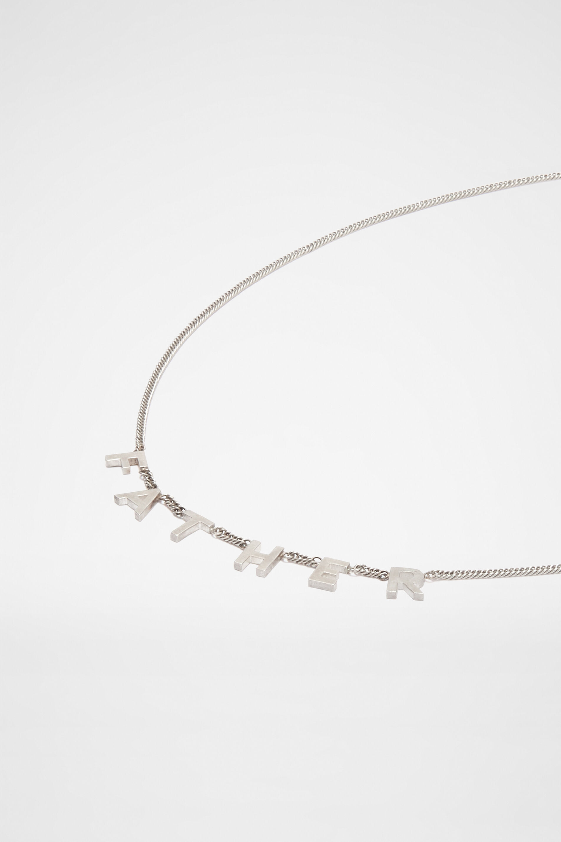 Lettering Necklace, silver, large