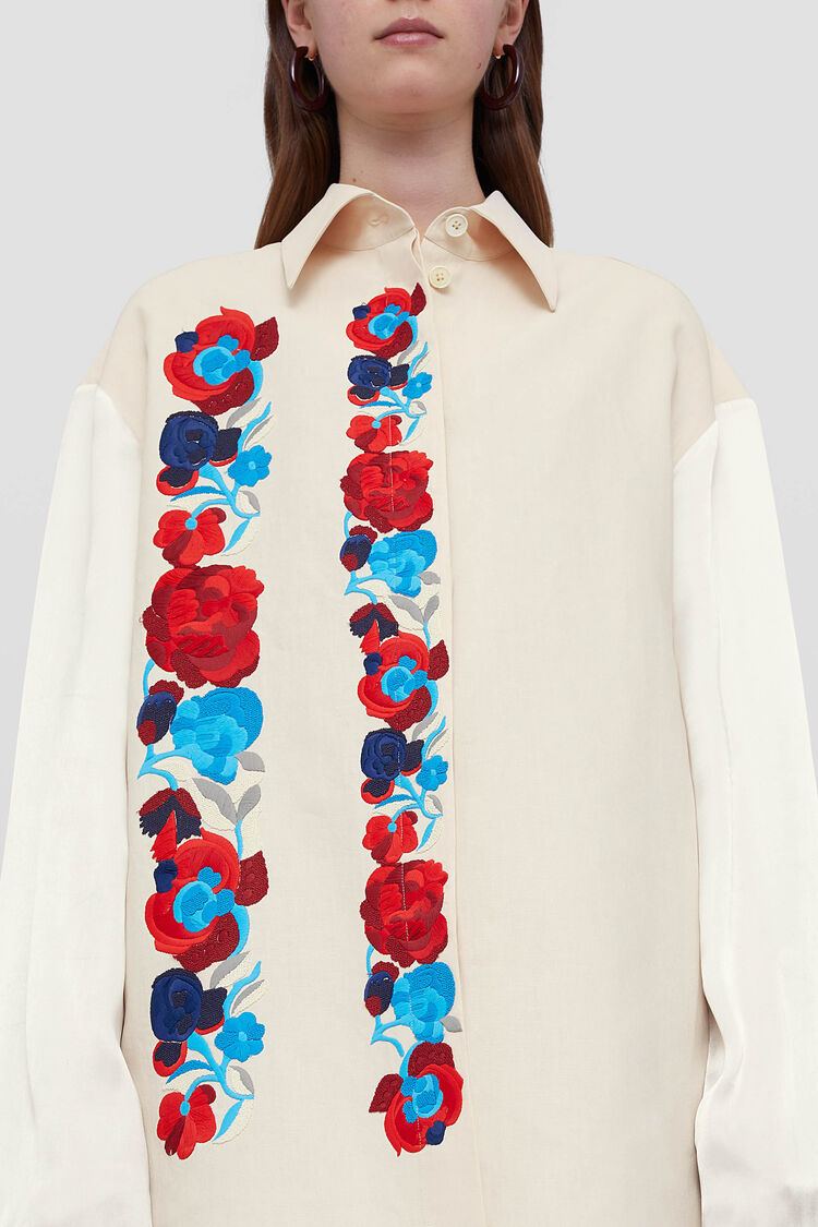 Embroidered Shirt, pastel Pink, large