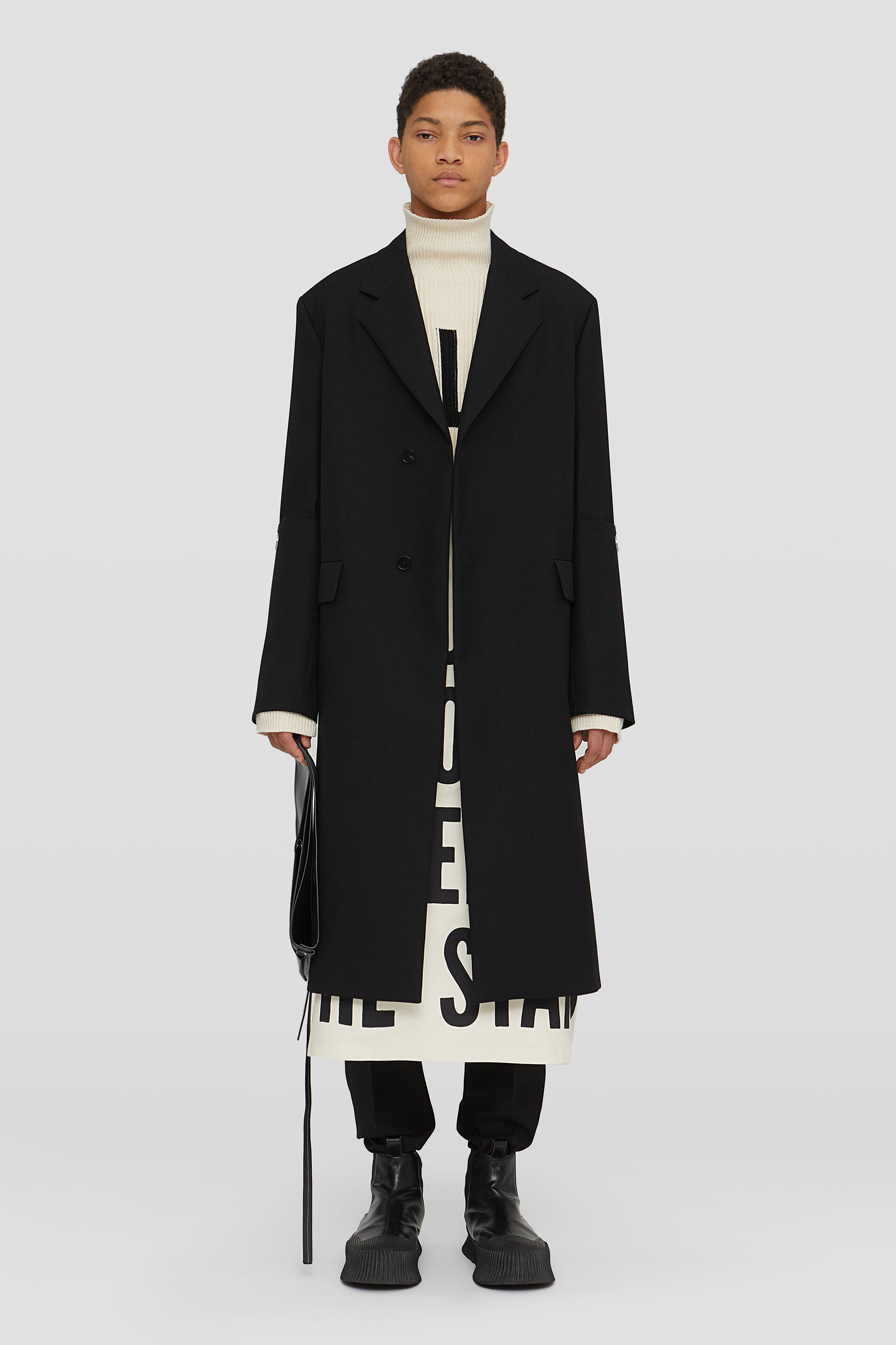 Tailored Coat, black, large
