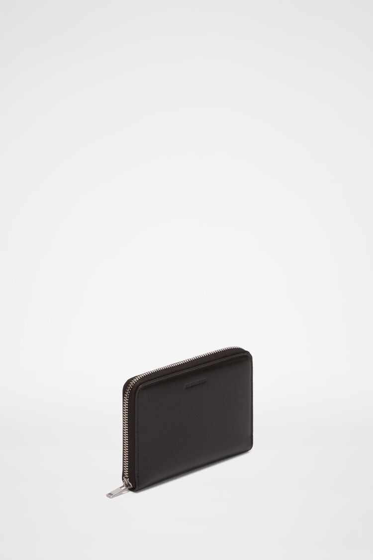 Zip Around Pocket Wallet, black, large