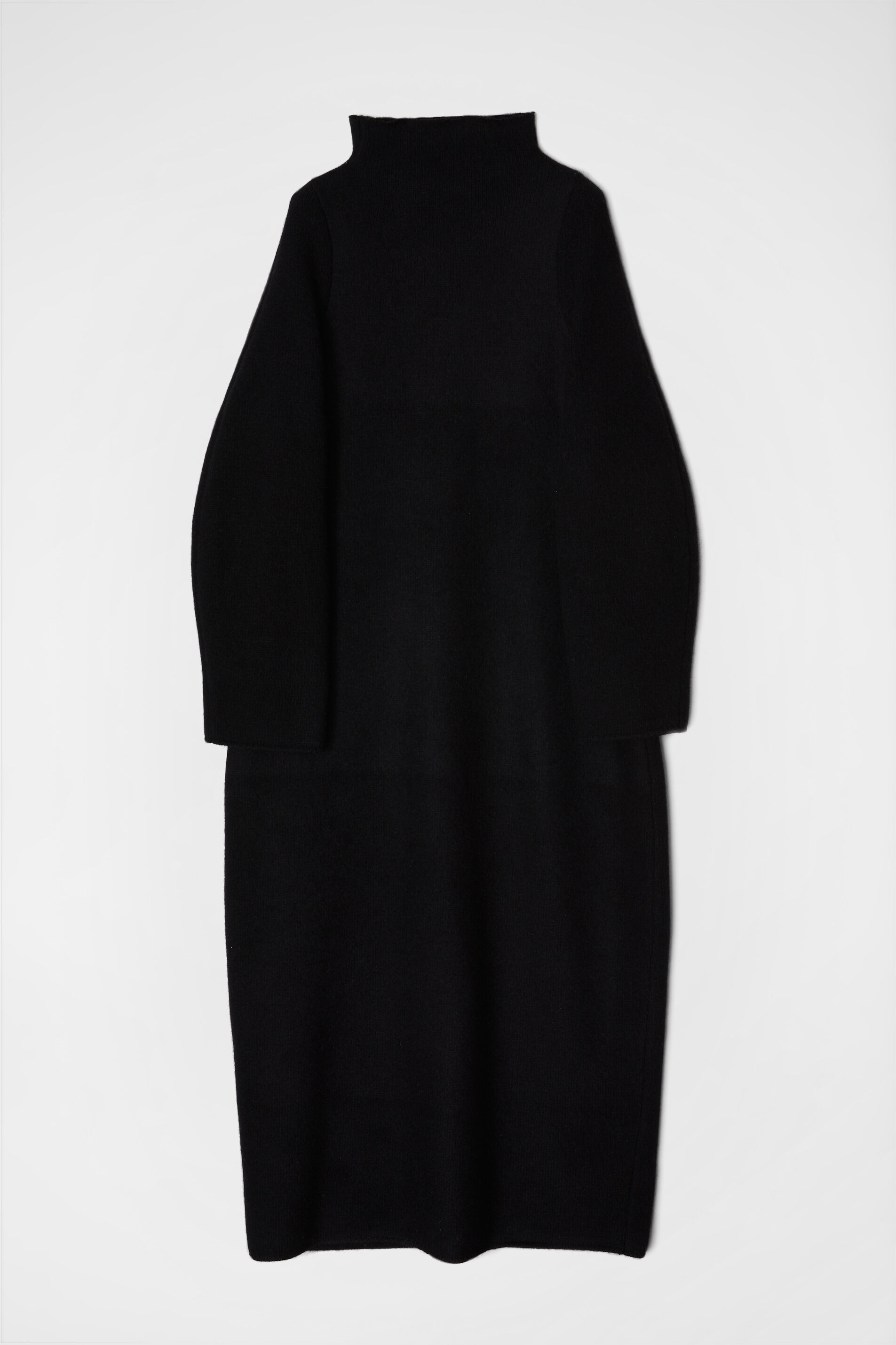 Knit Dress, black, large