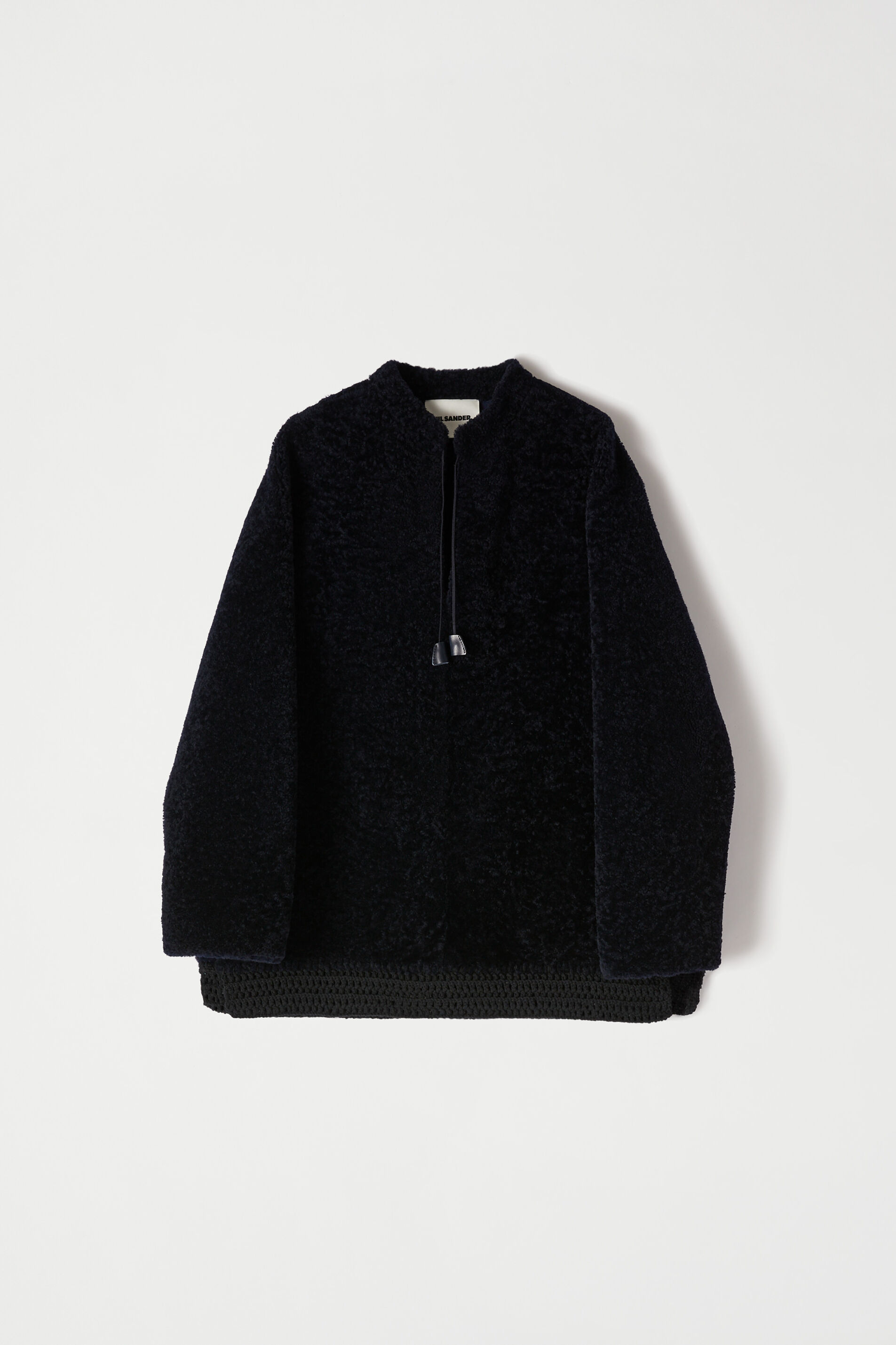 Shearling Pullover, dark blue, large