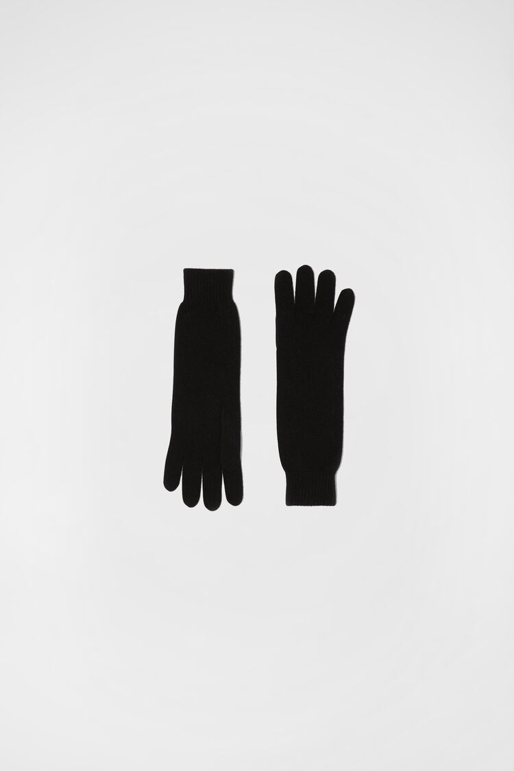Gloves, black, large