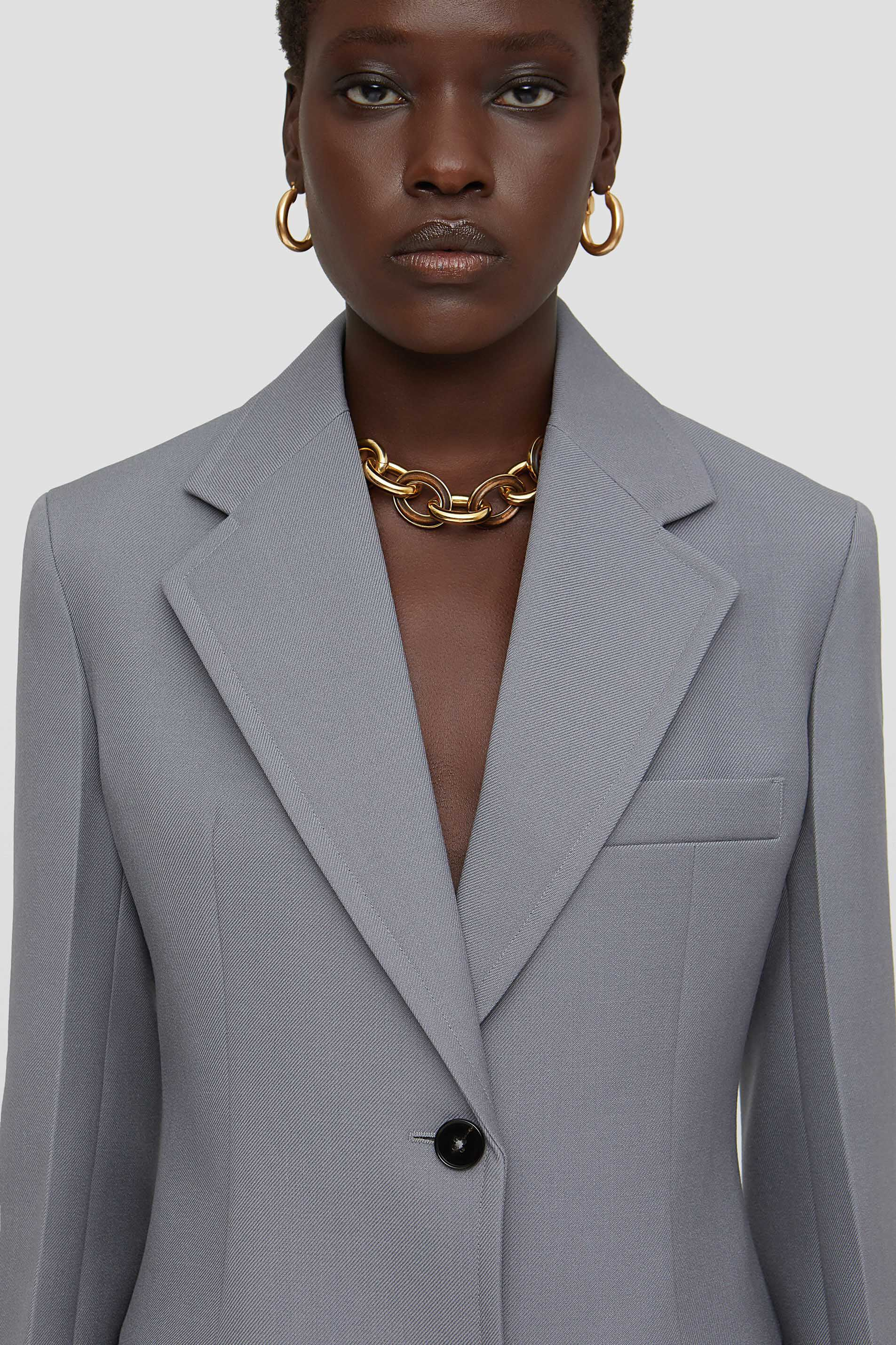 Tailored Jacket, grey, large